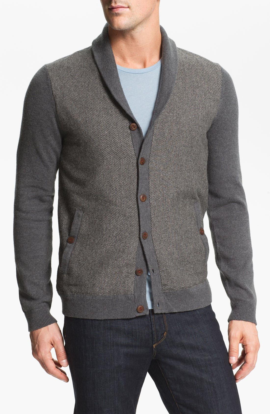 Alternate Image 1 Selected - Ted Baker London 'Bosport' Shawl Collar Button Cardigan
