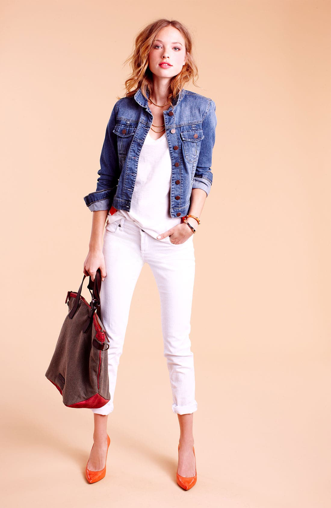 Alternate Image 4  - KUT from the Kloth Skinny Jeans (White Wash)