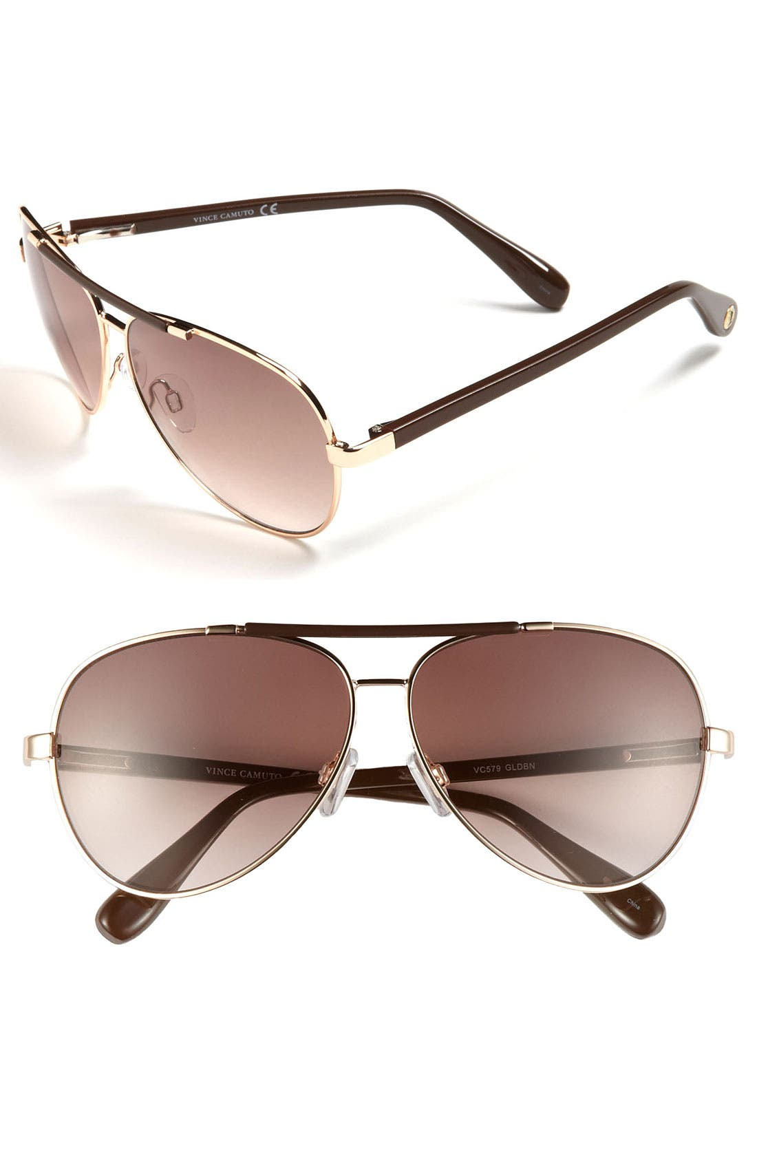 Alternate Image 1 Selected - Vince Camuto 60mm Aviator Sunglasses (Online Only)