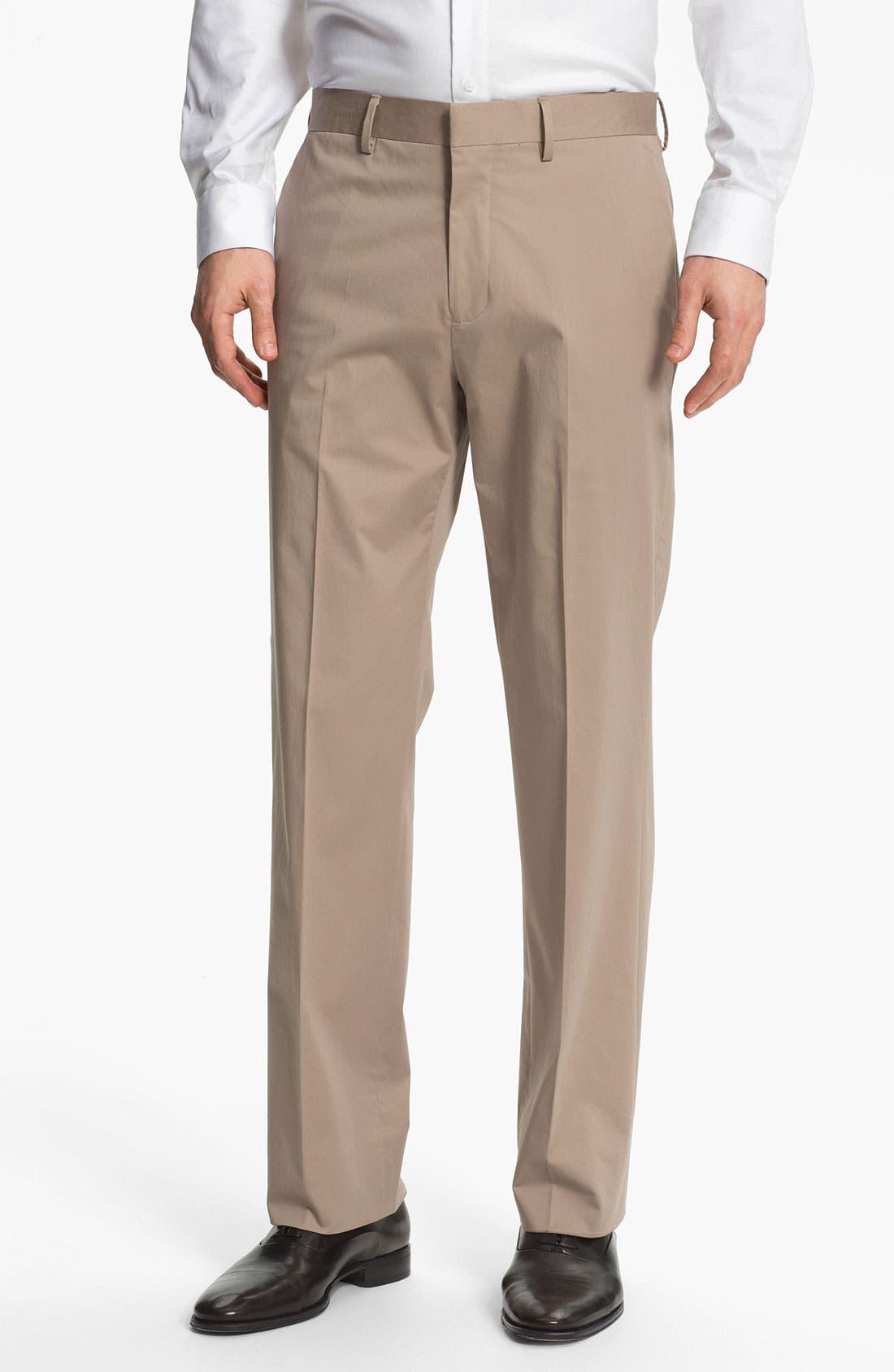 Alternate Image 1 Selected - Michael Kors Flat Front Pants