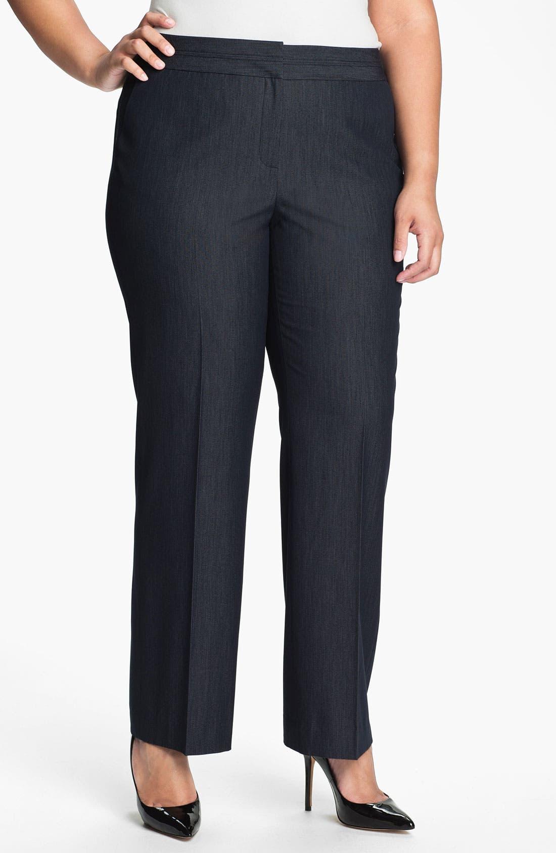 Main Image - Sejour 'Bluescreen' Suit Trousers (Plus)