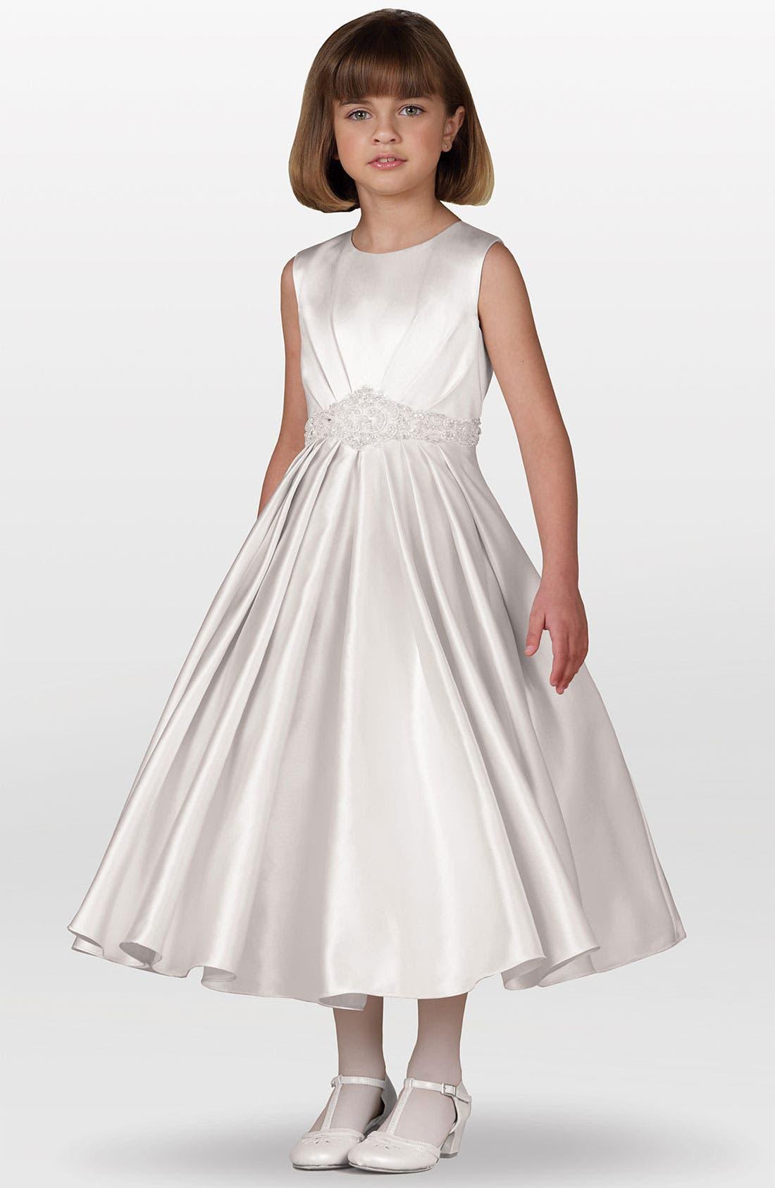 Alternate Image 1 Selected - Joan Calabrese for Mon Cheri Jeweled Waist Dress (Little Girls & Big Girls)