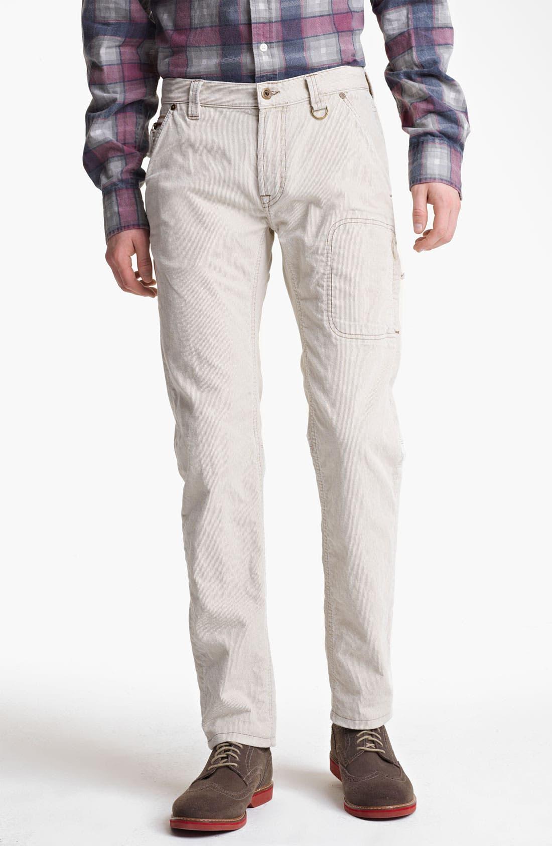 'Explorer' Slim Leg Corduroy Pants,                         Main,                         color, Stone