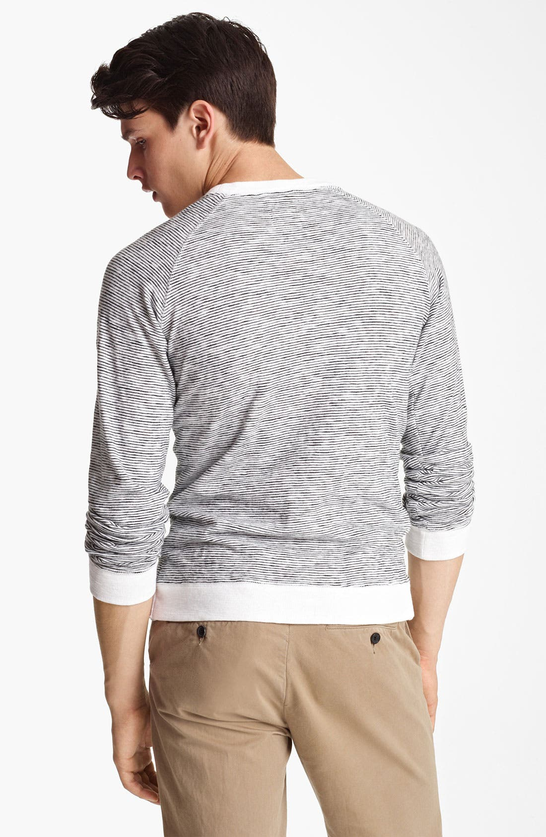 Alternate Image 2  - Billy Reid Stripe Crewneck Sweatshirt