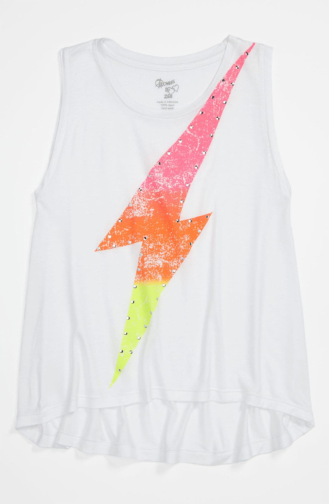 Main Image - Flowers by Zoe 'Lightning Bolt' Tee (Big Girls)