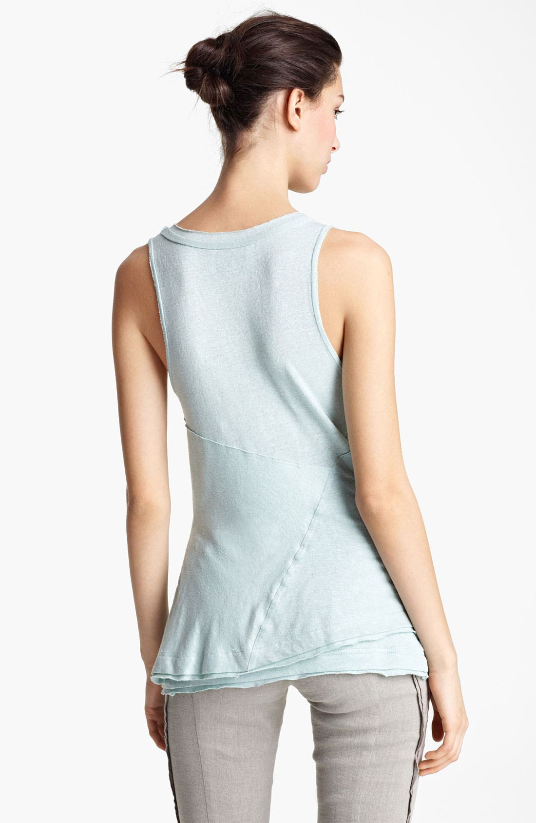 Alternate Image 2  - Donna Karan Collection Linen Jersey Tank