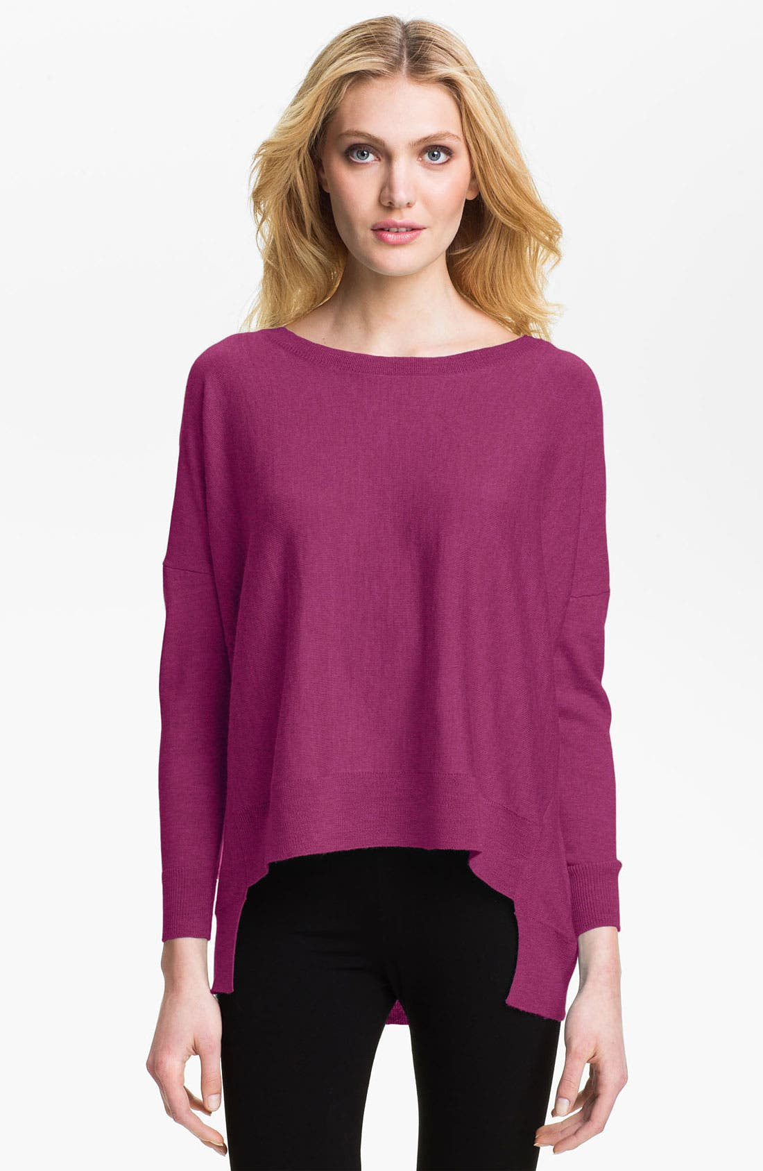 Alternate Image 1 Selected - Eileen Fisher Ballet Neck Merino Sweater (Petite)