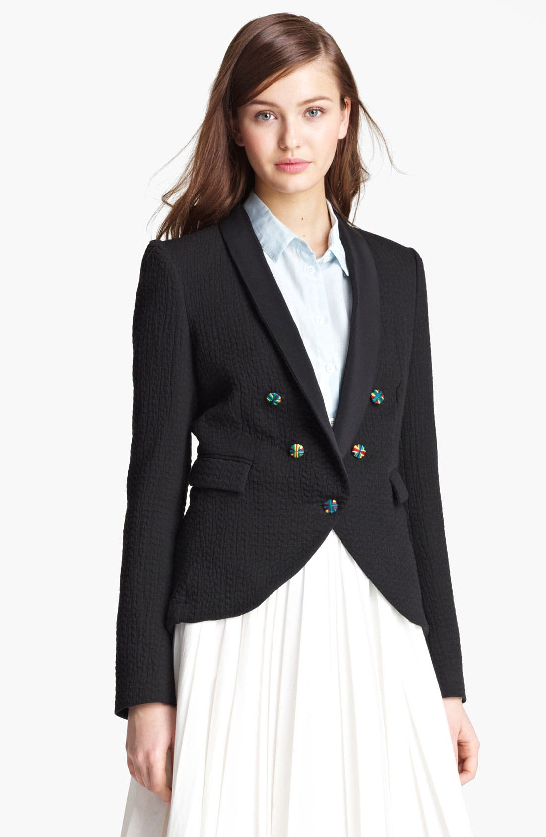 Alternate Image 2  - Band of Outsiders Quilted Blazer