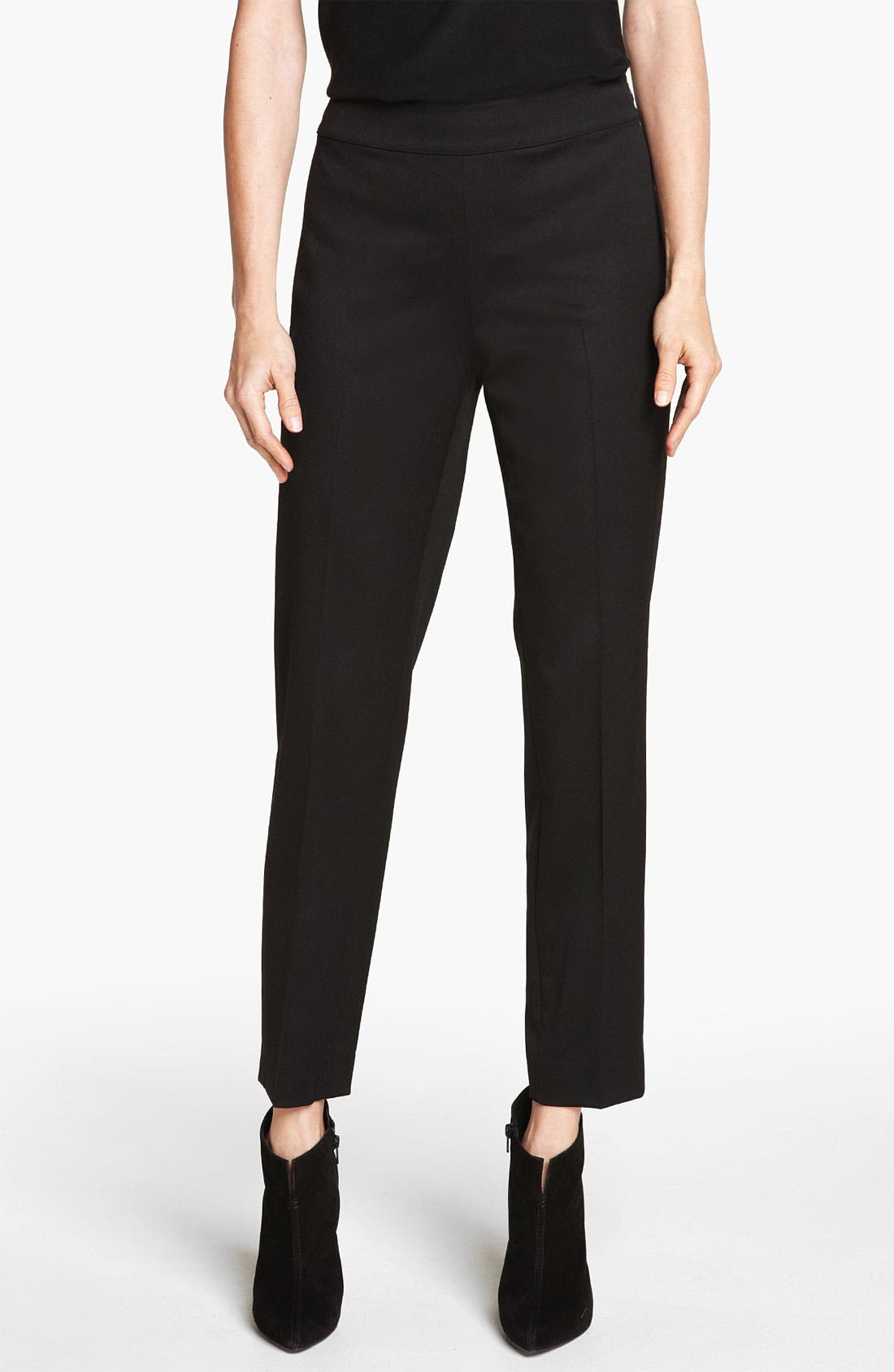 Main Image - St. John Collection 'Emma' Stretch Venetian Wool Crop Pants