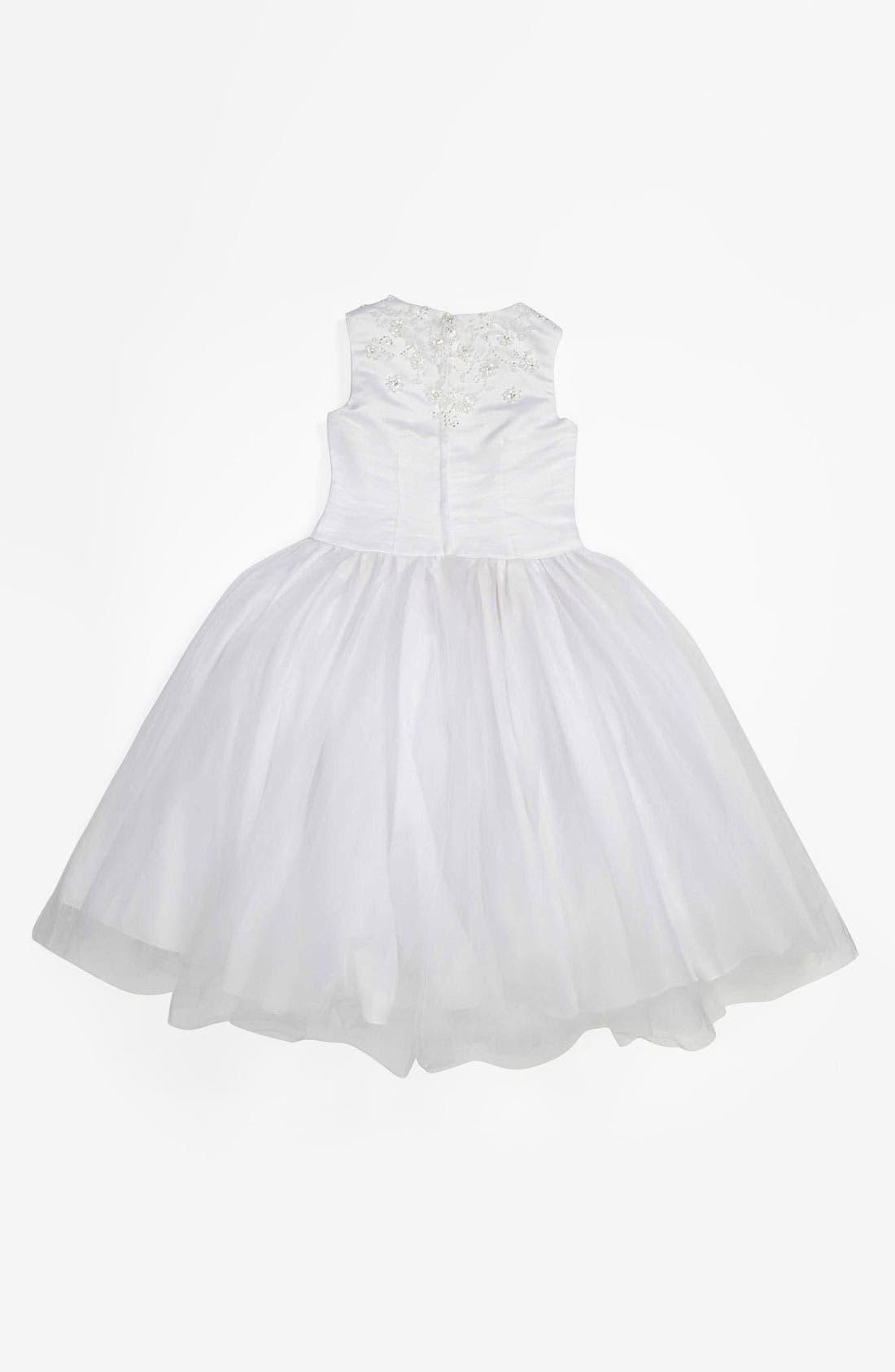 Alternate Image 2  - Lauren Marie Tulle Dress (Little Girls & Big Girls)