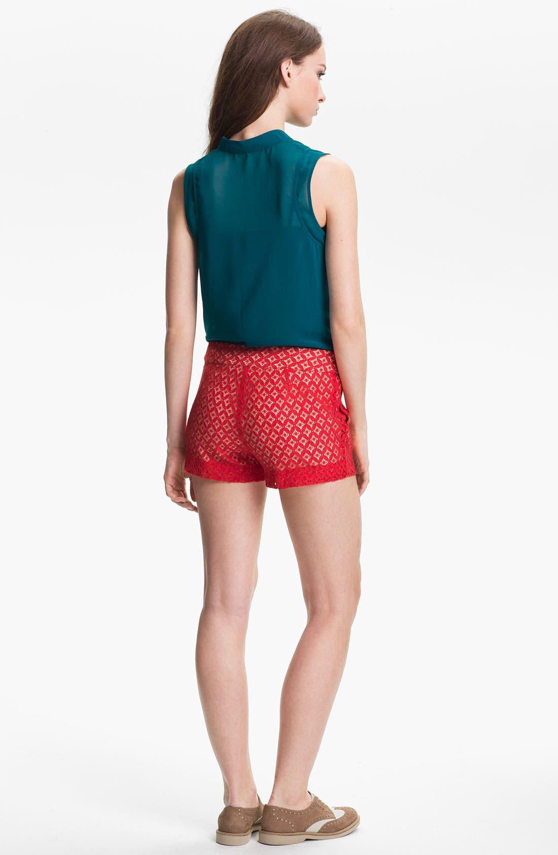 Alternate Image 4  - Kensie 'Geo Lace' Shorts