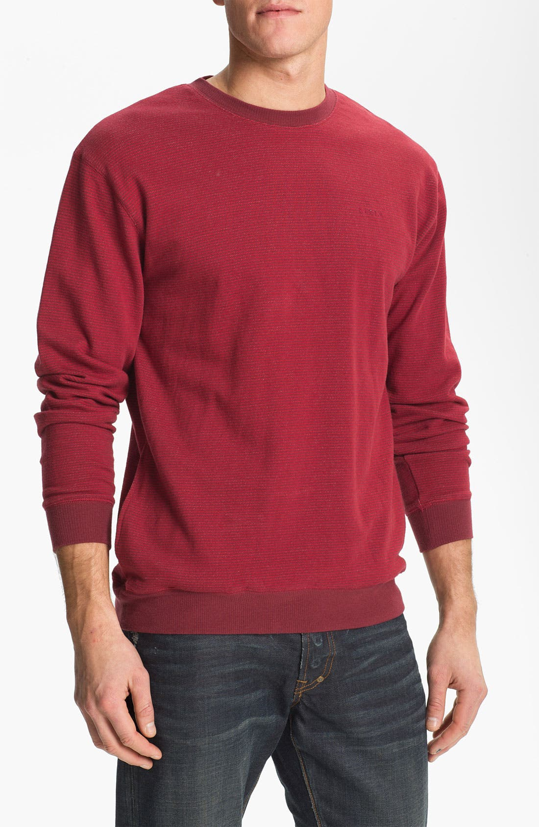 Main Image - Brixton 'Partisan' Stripe French Terry Crewneck Sweatshirt