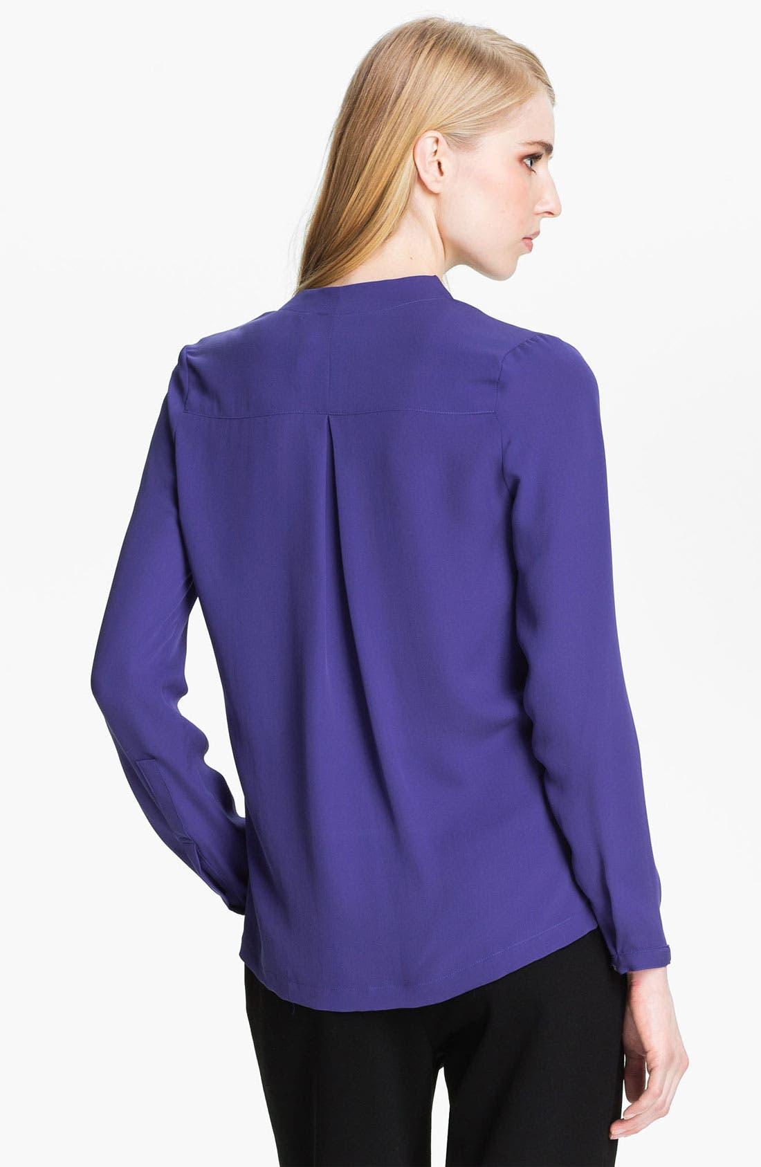 Alternate Image 2  - Halston Heritage Silk Blouse