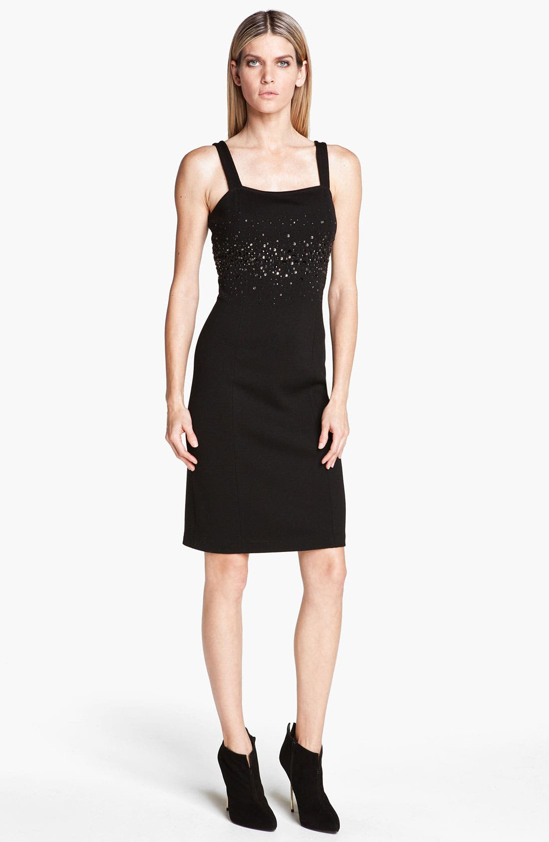 Main Image - St. John Collection Sequin Detail Milano Knit Dress