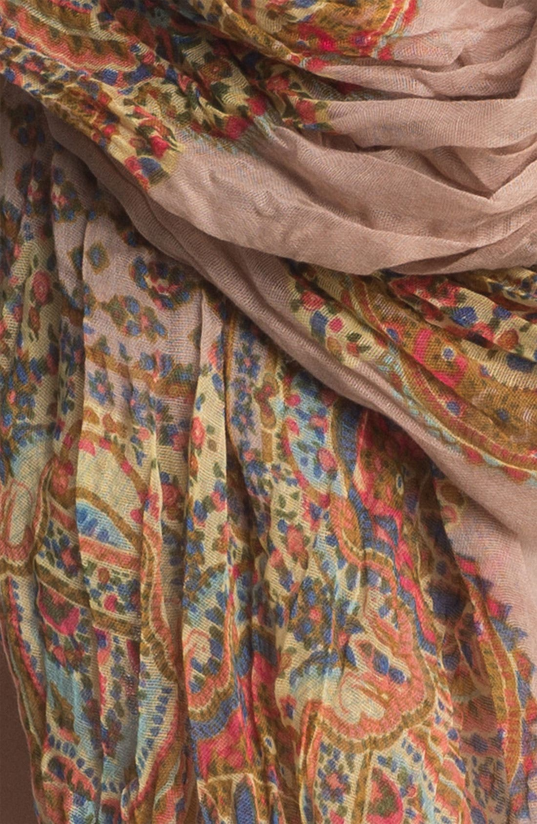 Alternate Image 2  - Roffe Accessories Crinkled Paisley Scarf