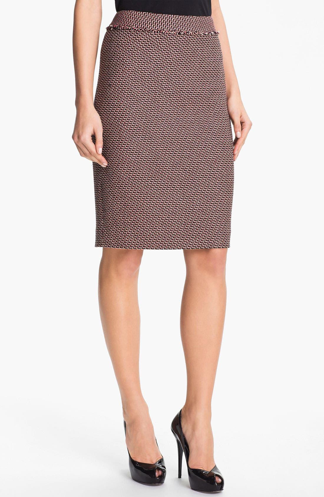 Alternate Image 1 Selected - Classiques Entier® 'Venetto Zigzag' Skirt