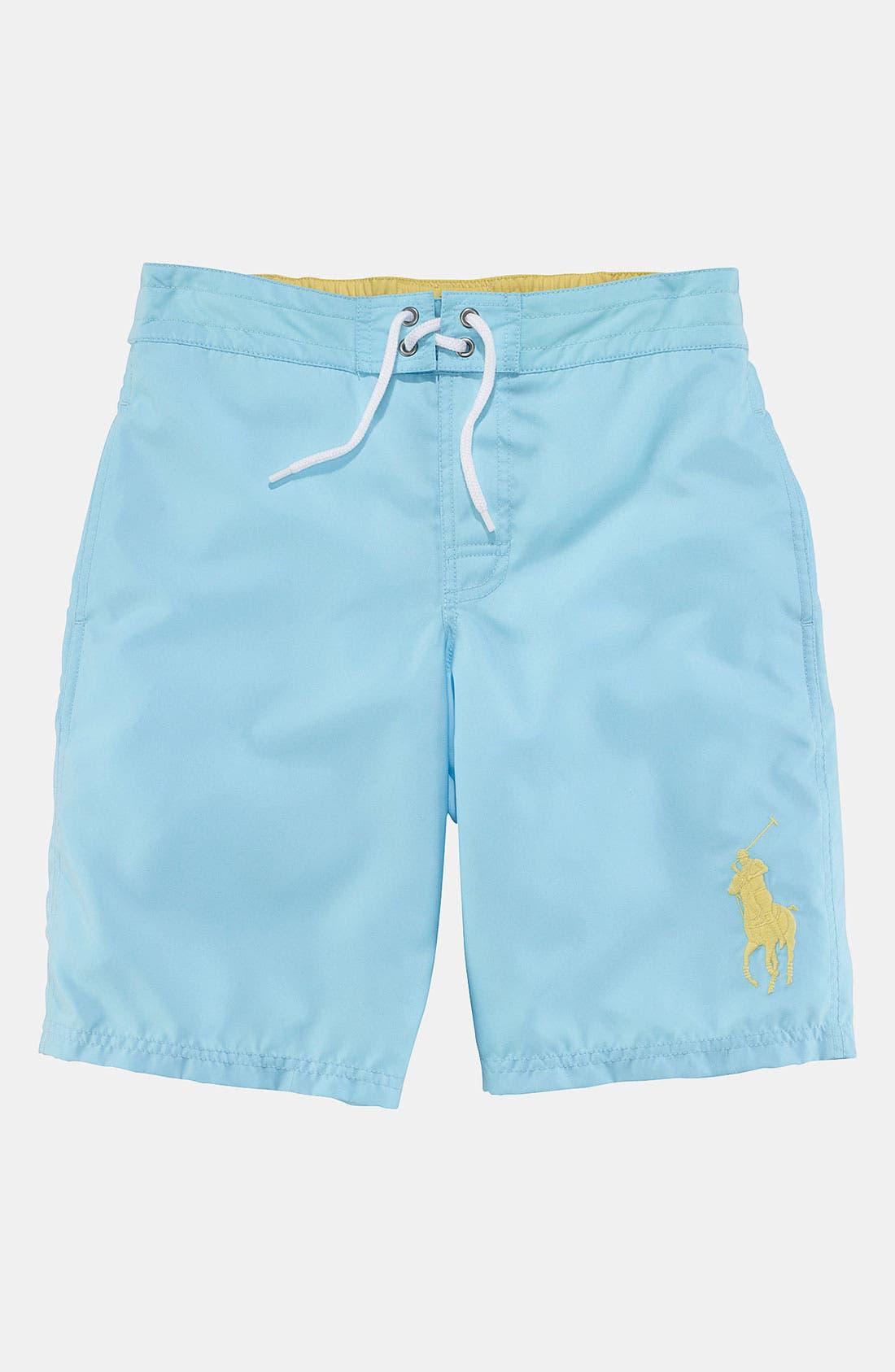Alternate Image 1 Selected - Ralph Lauren Swim Trunks (Toddler)