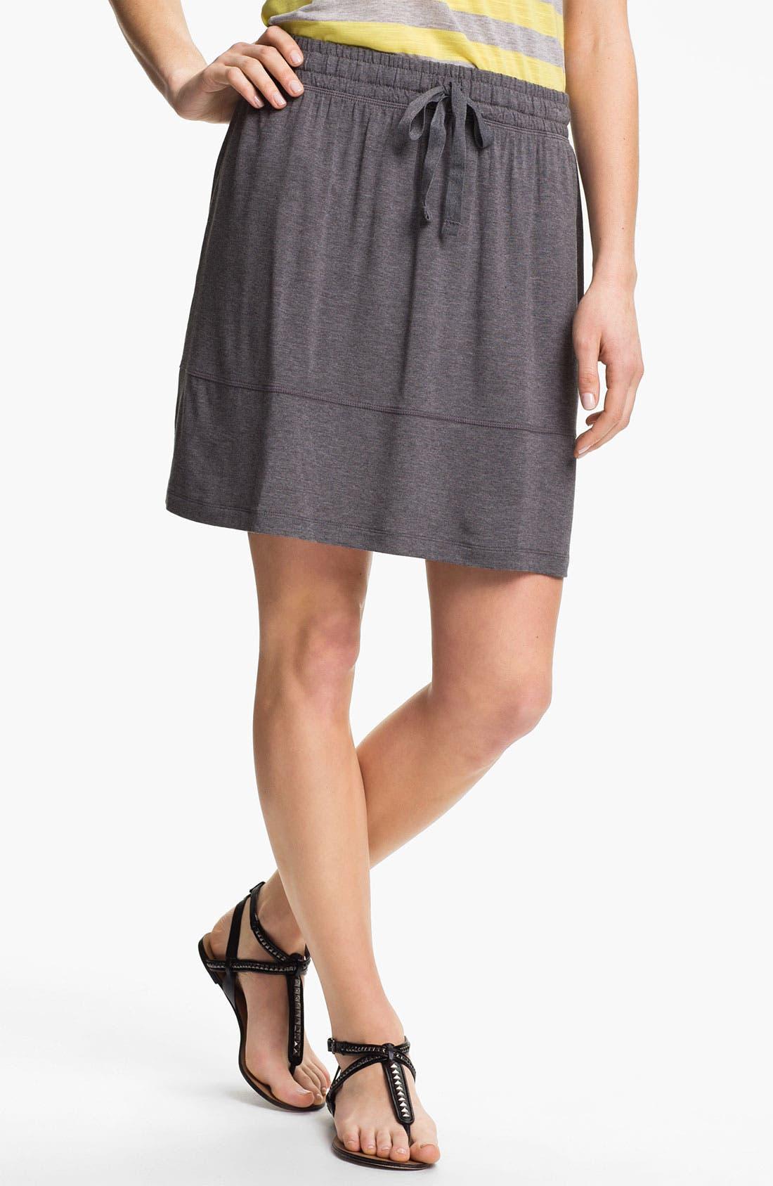 Main Image - Caslon Drawstring Short Skirt