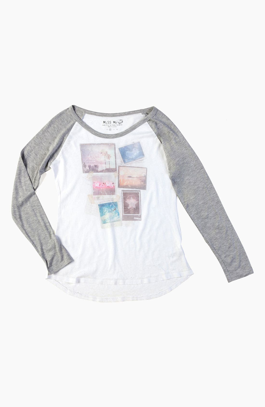 Main Image - Miss Me Screenprint Henley Shirt (Big Girls)