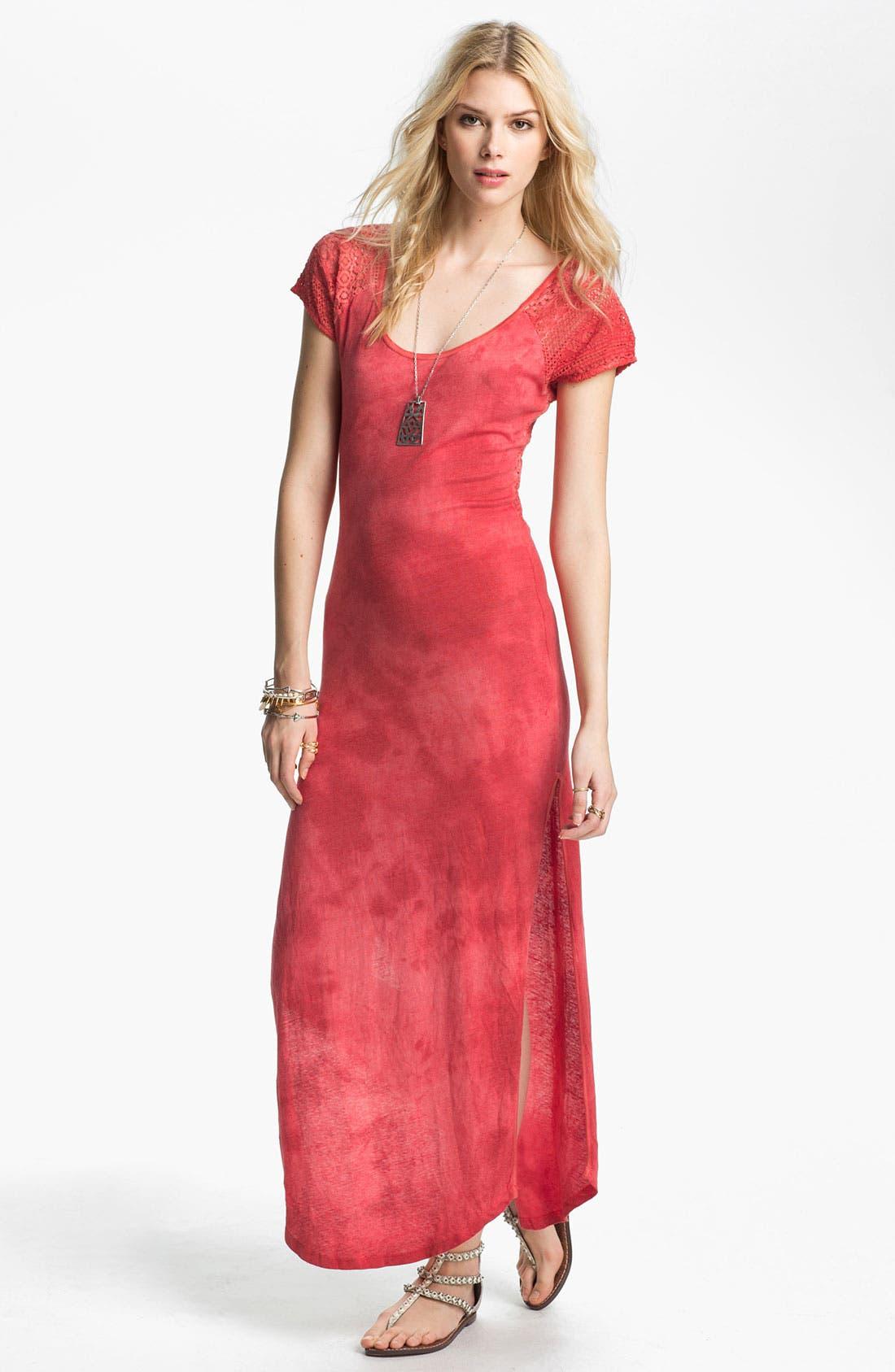 Main Image - Free People Lace Detail Tie Dye Maxi Dress