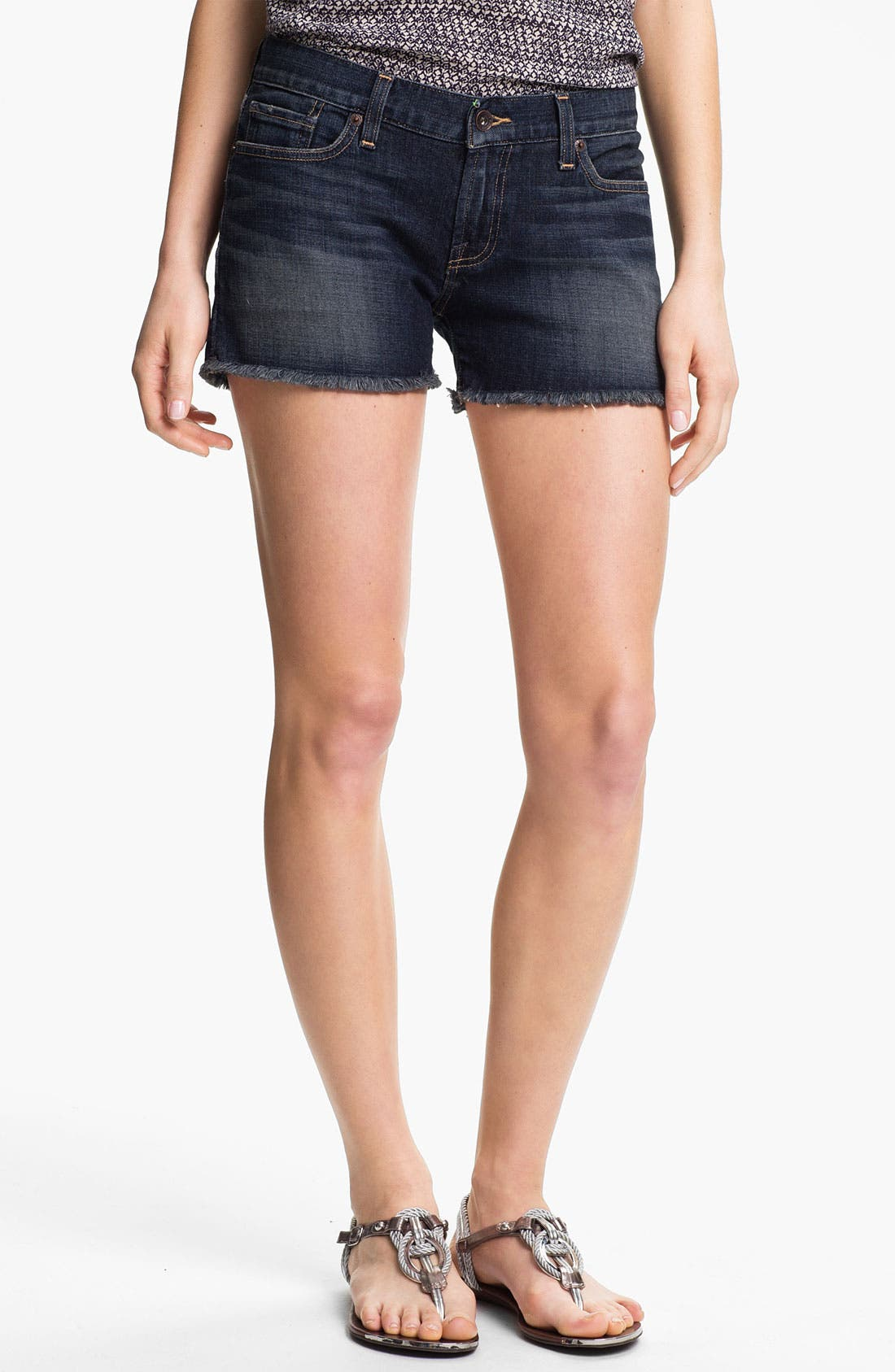 Main Image - Lucky Brand 'Riley' Denim Shorts (Surfwood)