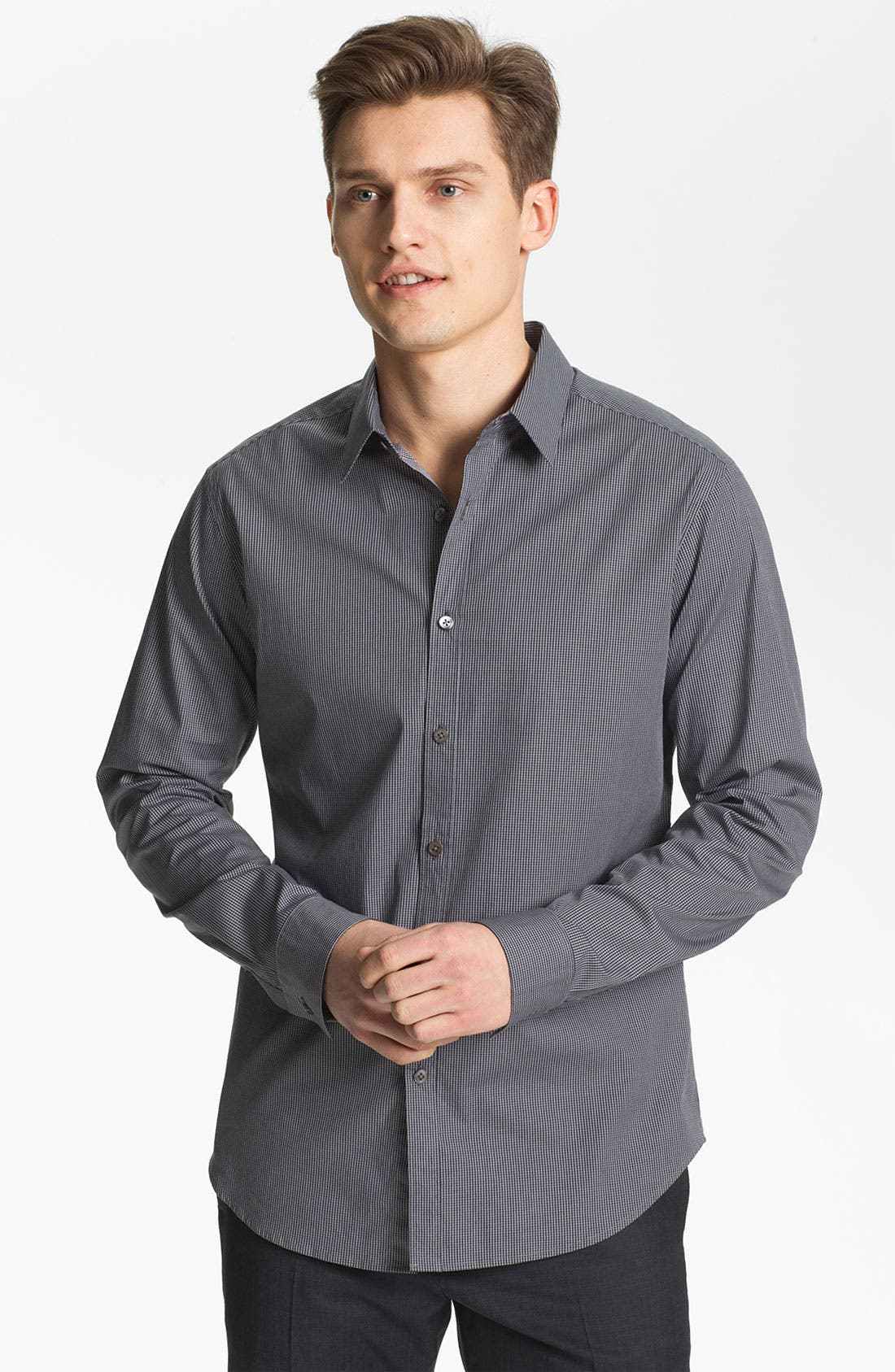Alternate Image 1 Selected - Theory 'Zack PS. Lorone' Trim Fit Sport Shirt