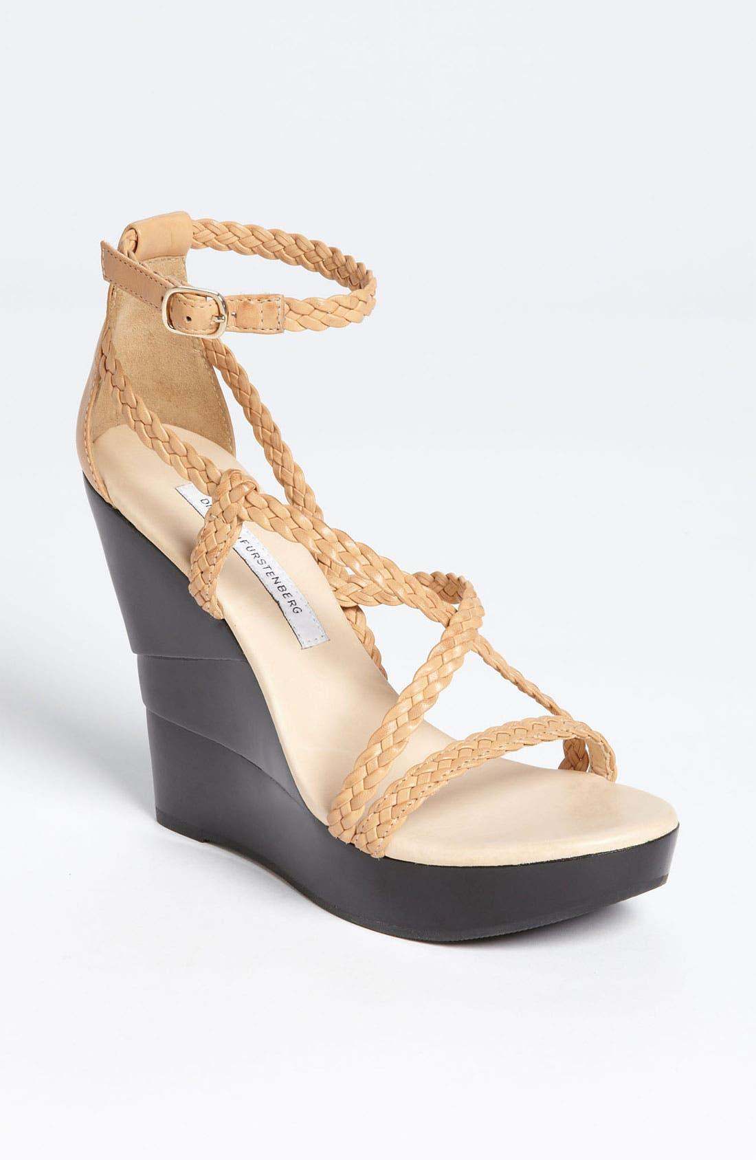 Alternate Image 1 Selected - Diane von Furstenberg 'Olive' Wedge Sandal (Online Only)