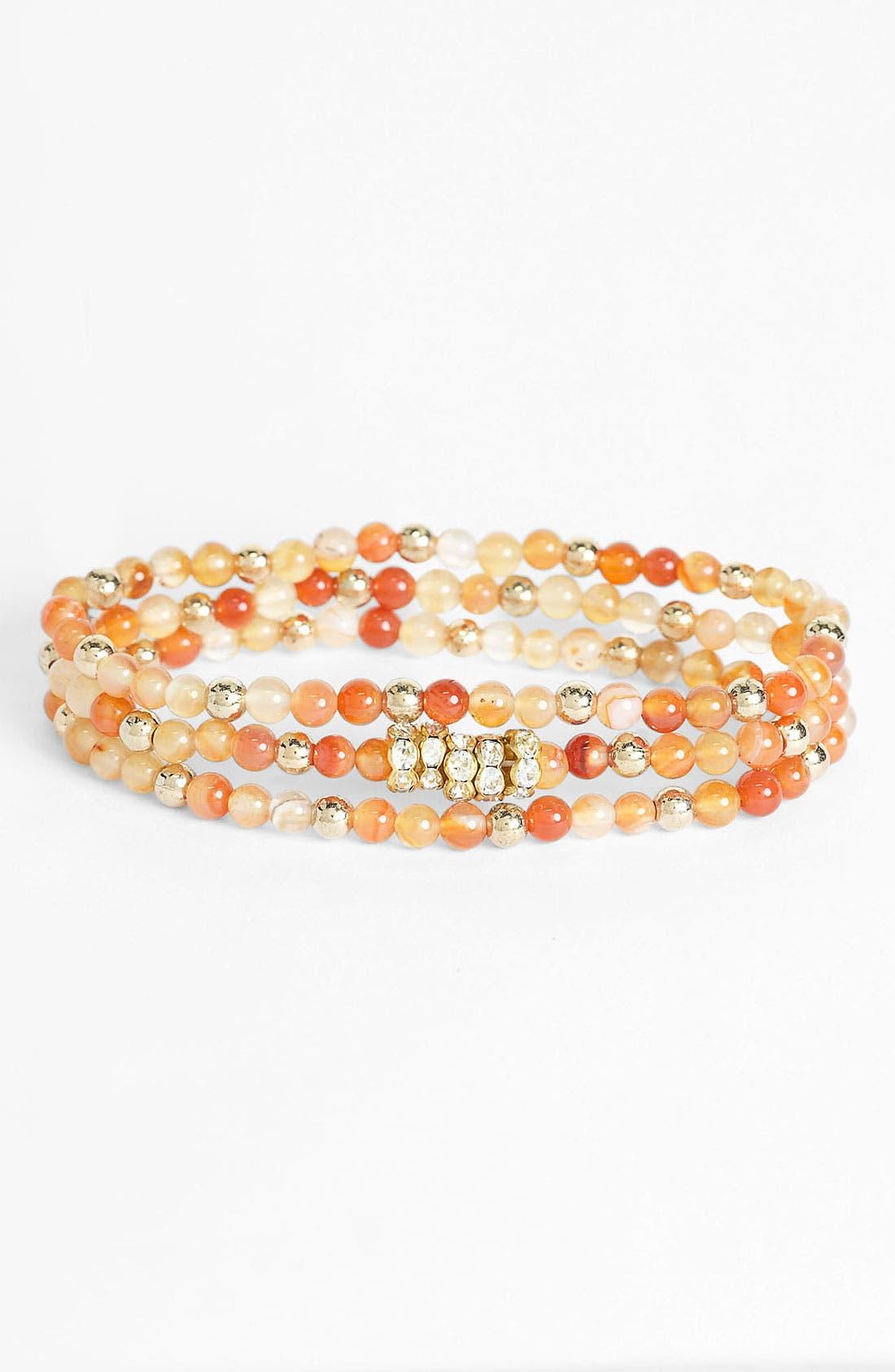 Main Image - Cara Bead Stretch Bracelets (Set of 3)