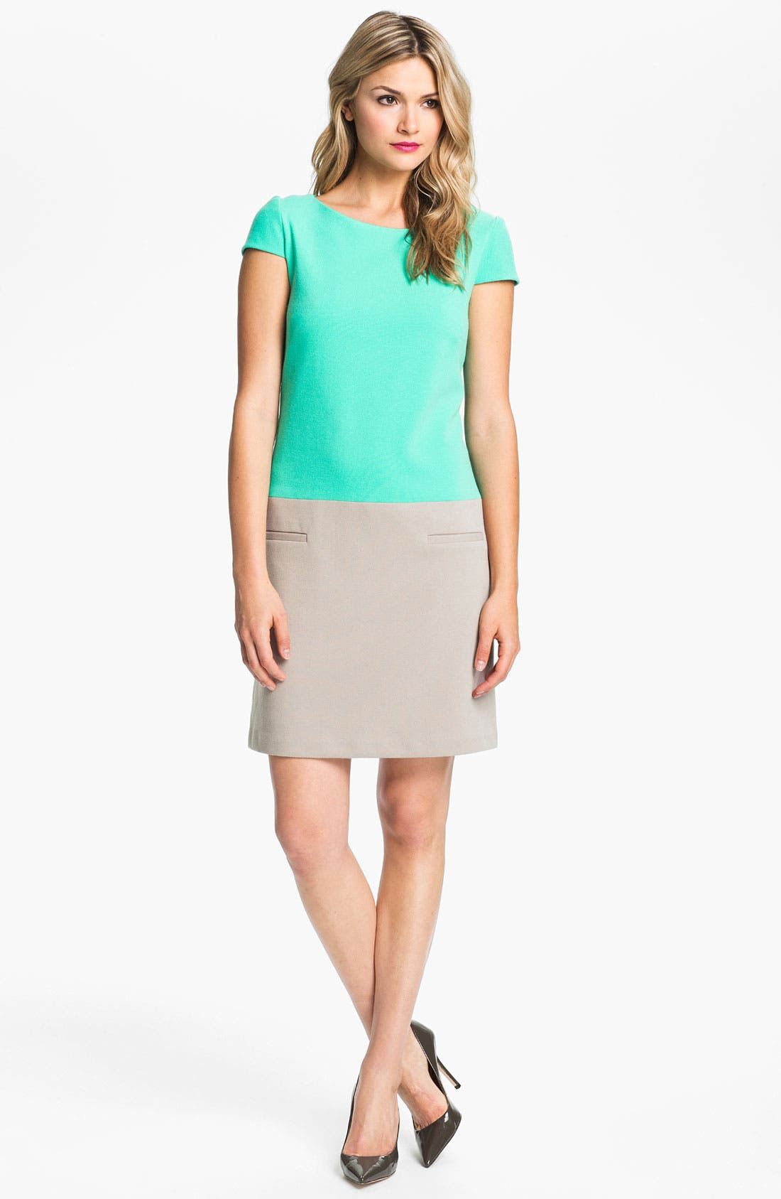 Alternate Image 1 Selected - Eliza J Colorblock Shift Dress