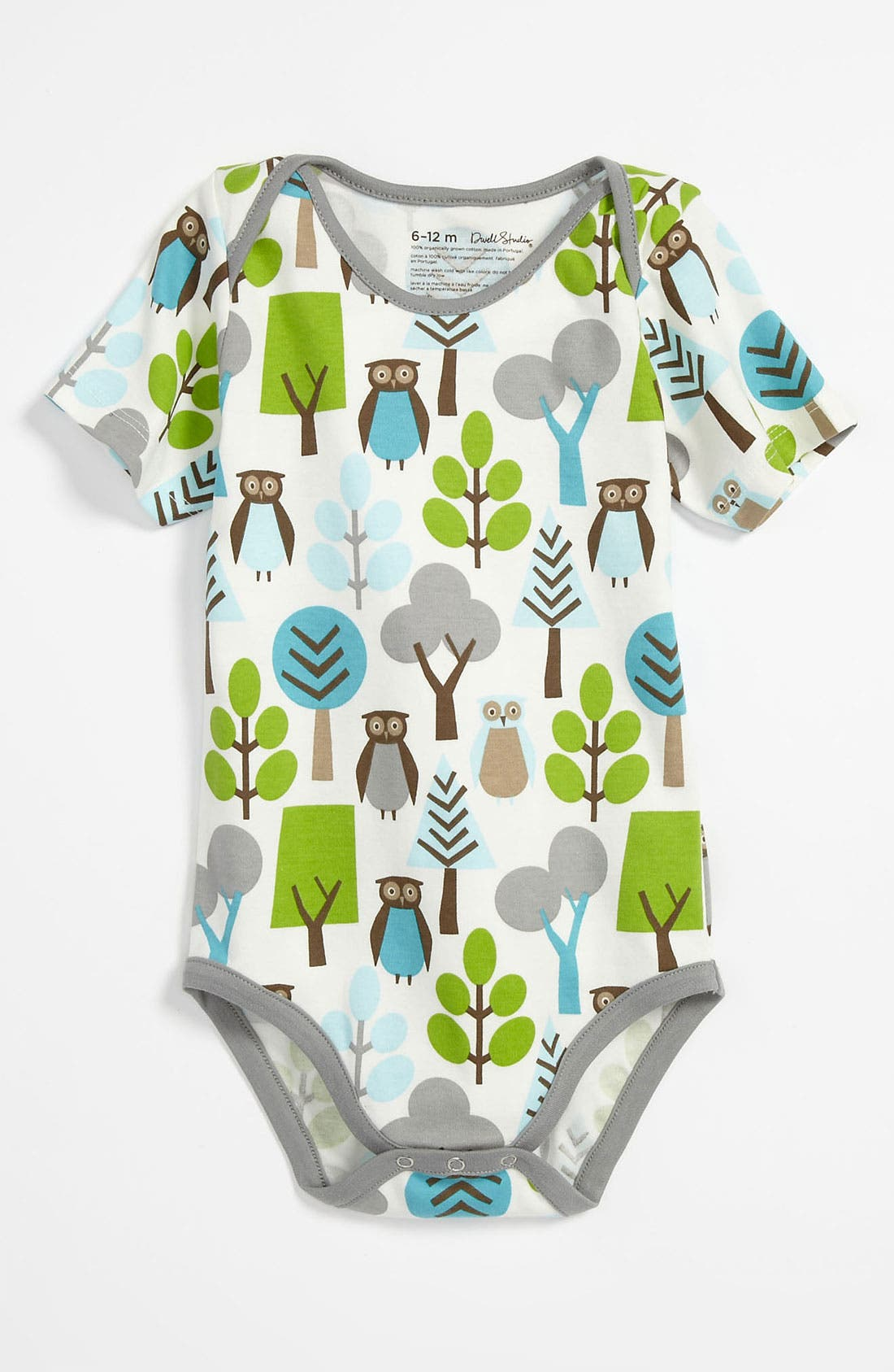 Alternate Image 1 Selected - DwellStudio 'Owl' Bodysuit (Infant)