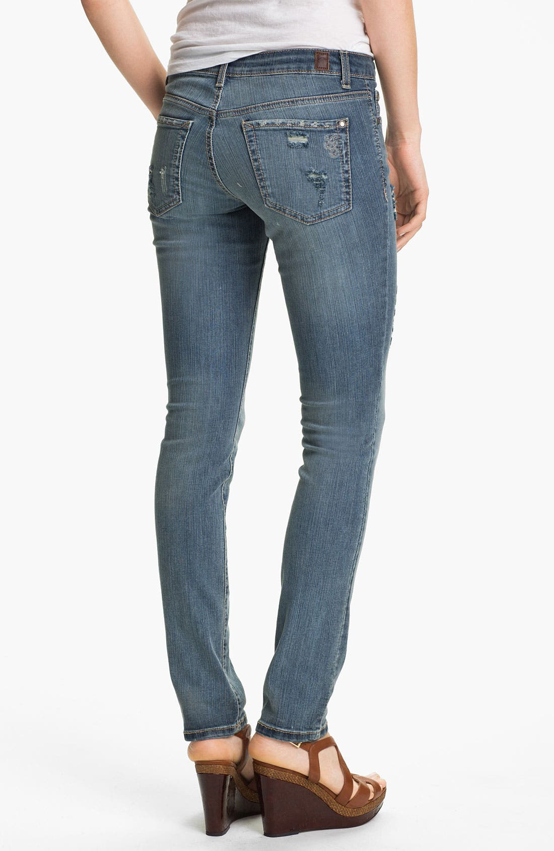 Alternate Image 3  - Jessica Simpson 'Kiss Me' Deconstructed Skinny Jeans (District) (Online Only)