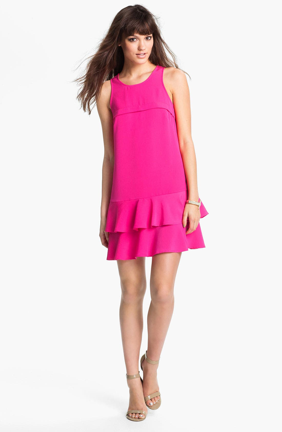 Main Image - Tiered Ruffle Shift Dress