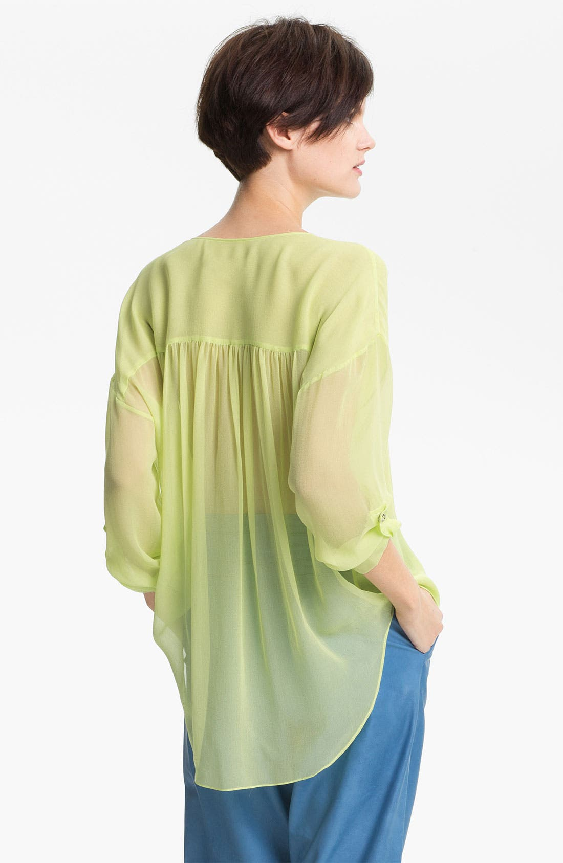 Alternate Image 2  - Tracy Reese Zip Front Silk Shirt
