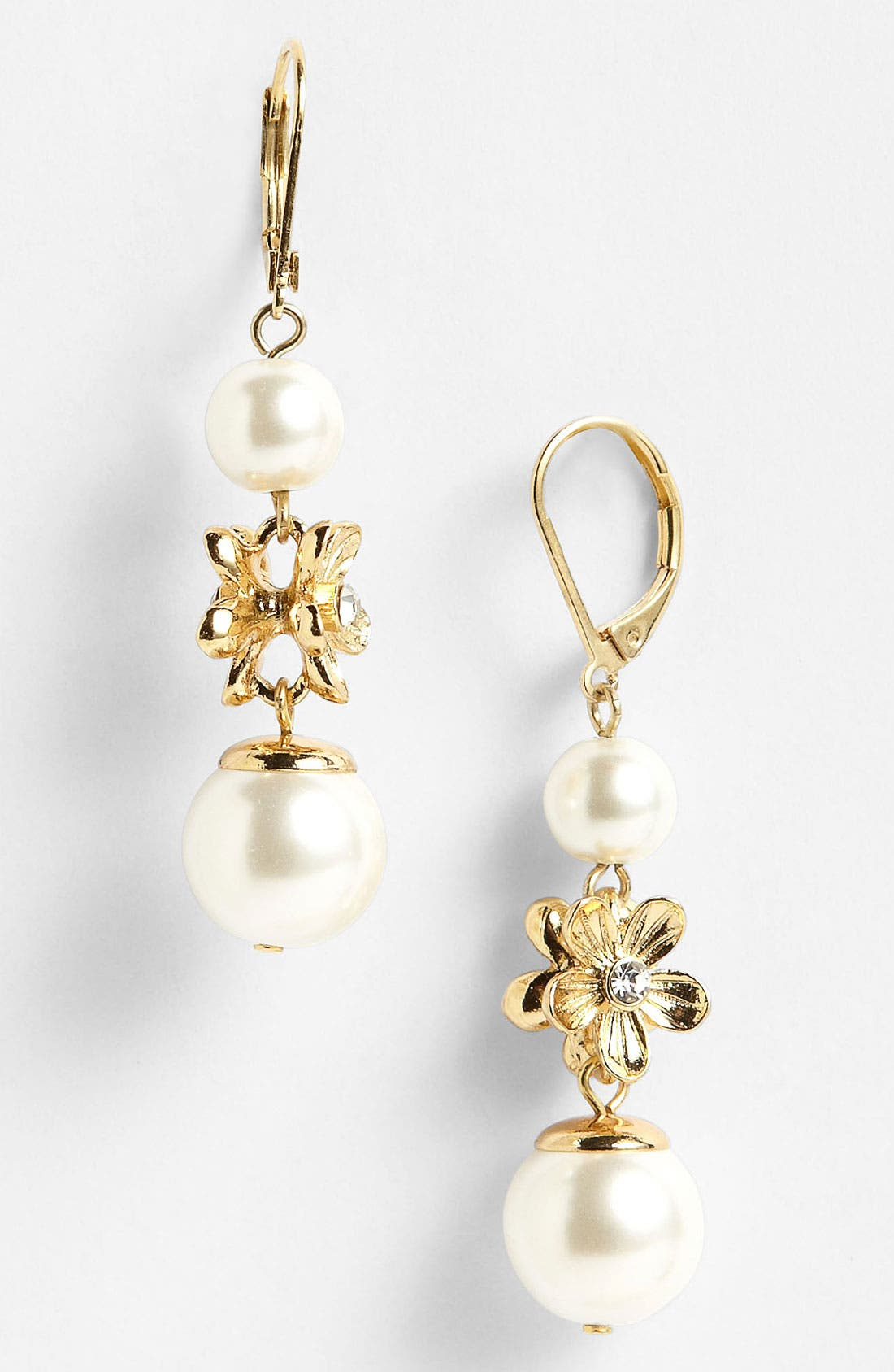 Alternate Image 1 Selected - Anne Klein Triple Drop Earrings
