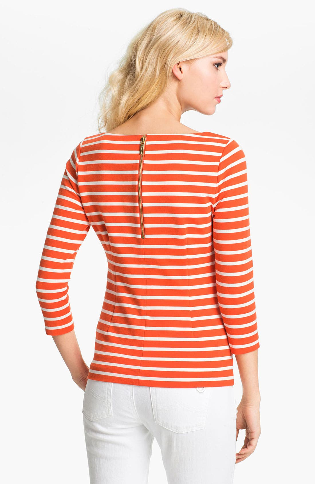 Alternate Image 1 Selected - MICHAEL Michael Kors Stripe Boatneck Top