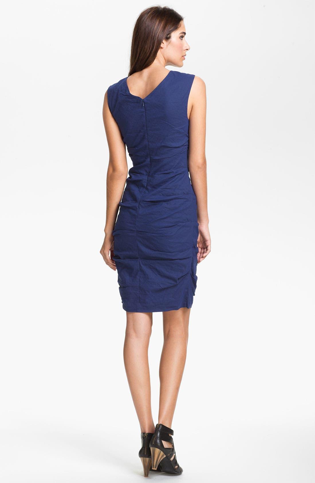 Alternate Image 2  - Eileen Fisher 'Cotton Steel' Faux Wrap Dress