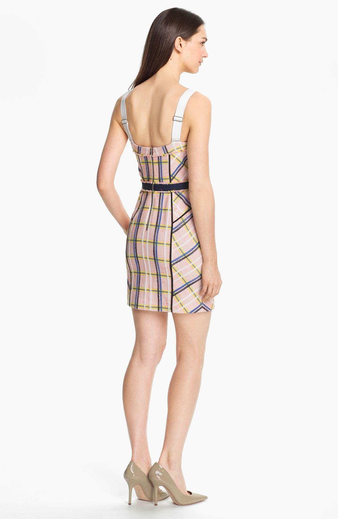 Alternate Image 2  - Rebecca Minkoff 'Clara' Textured Tweed Bustier Dress