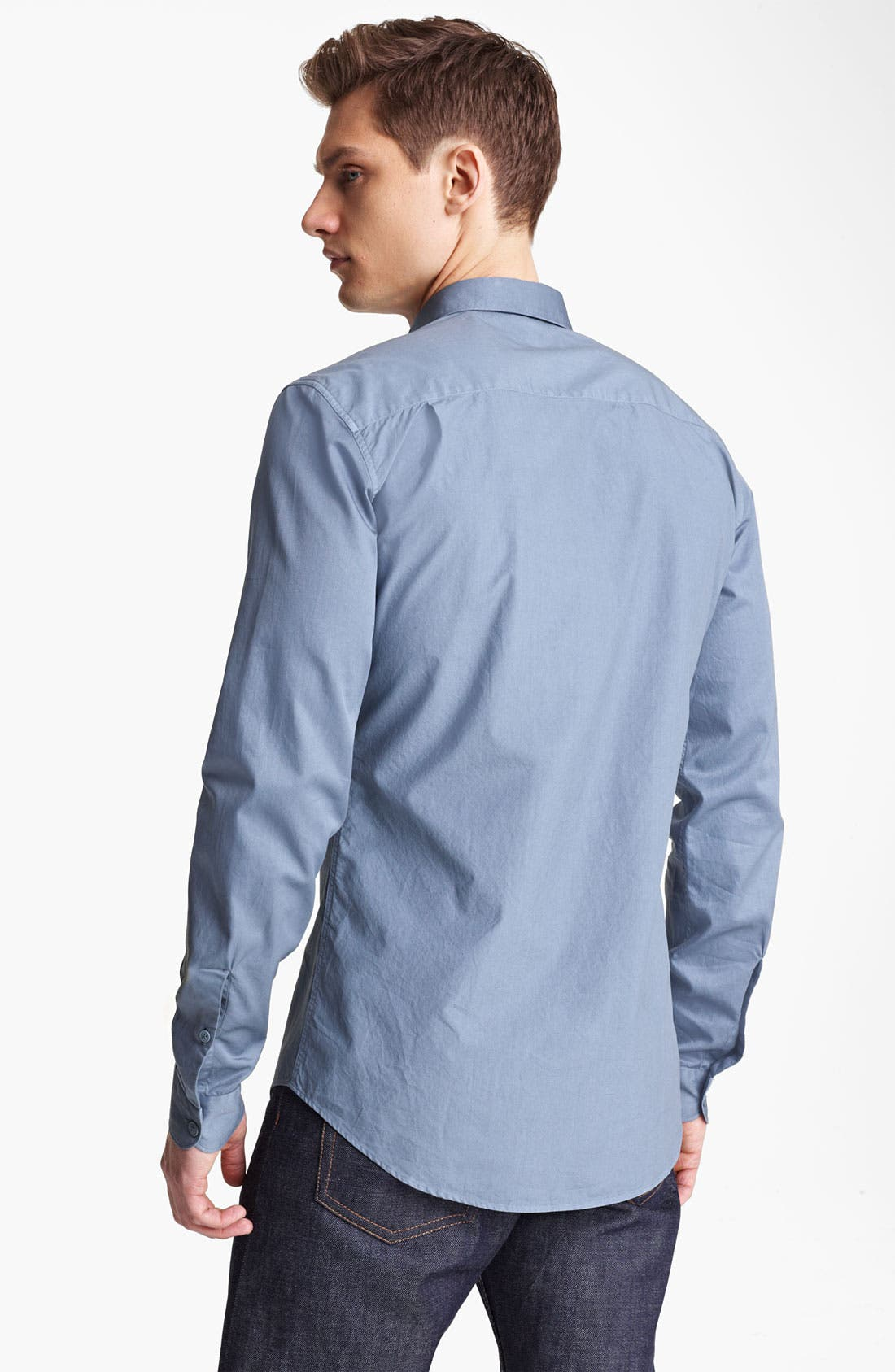 Alternate Image 2  - Z Zegna Garment Dyed Woven Shirt