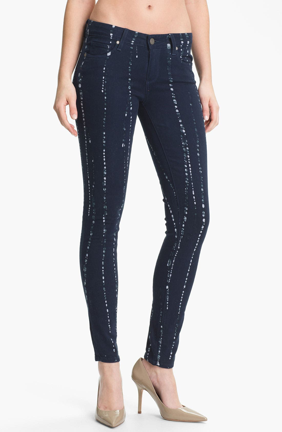 Main Image - Paige Denim 'Verdugo' Print Skinny Jeans (Summer Night Batik)