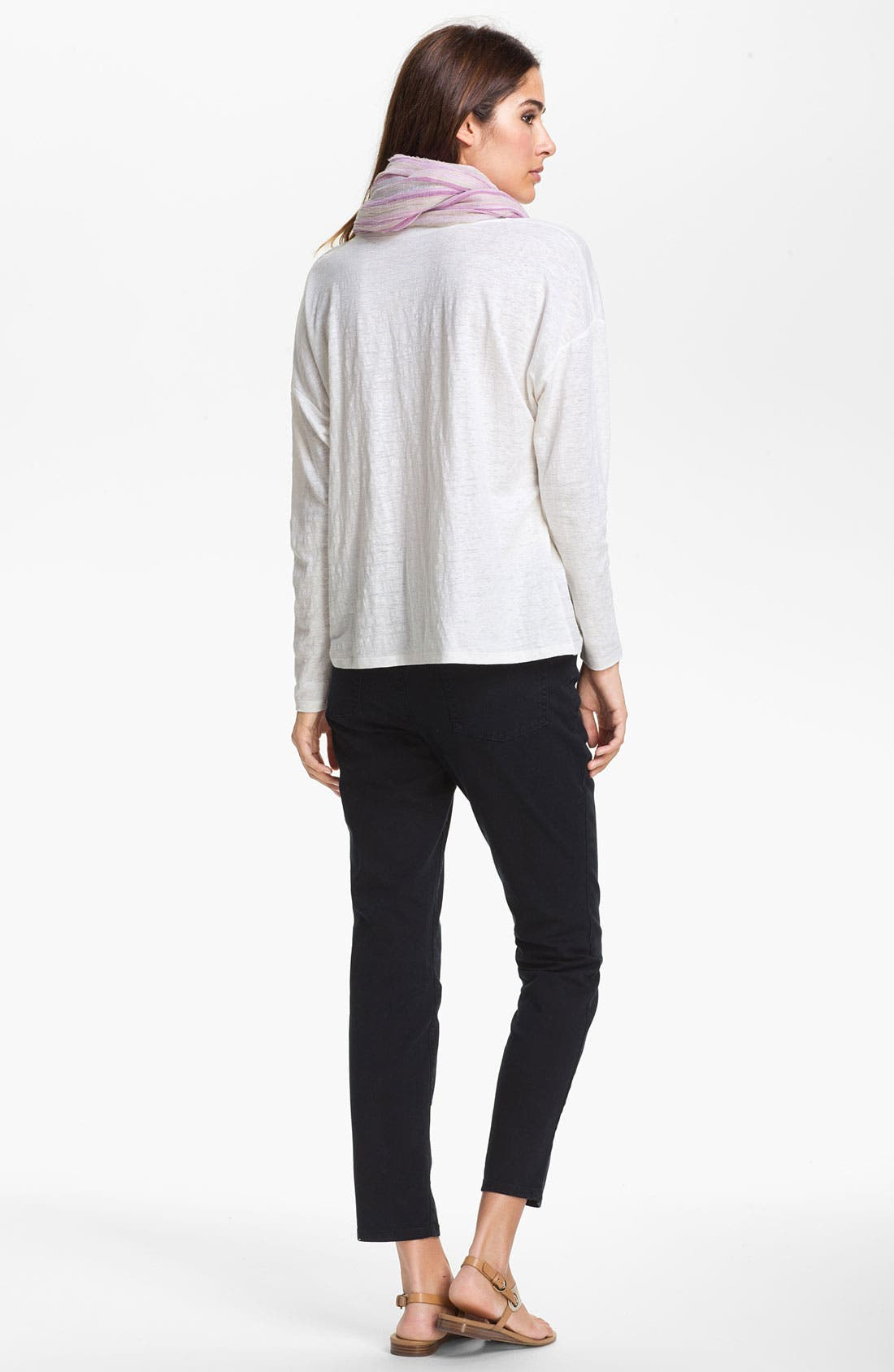 Alternate Image 5  - Eileen Fisher Ribbed Linen Top (Petite)