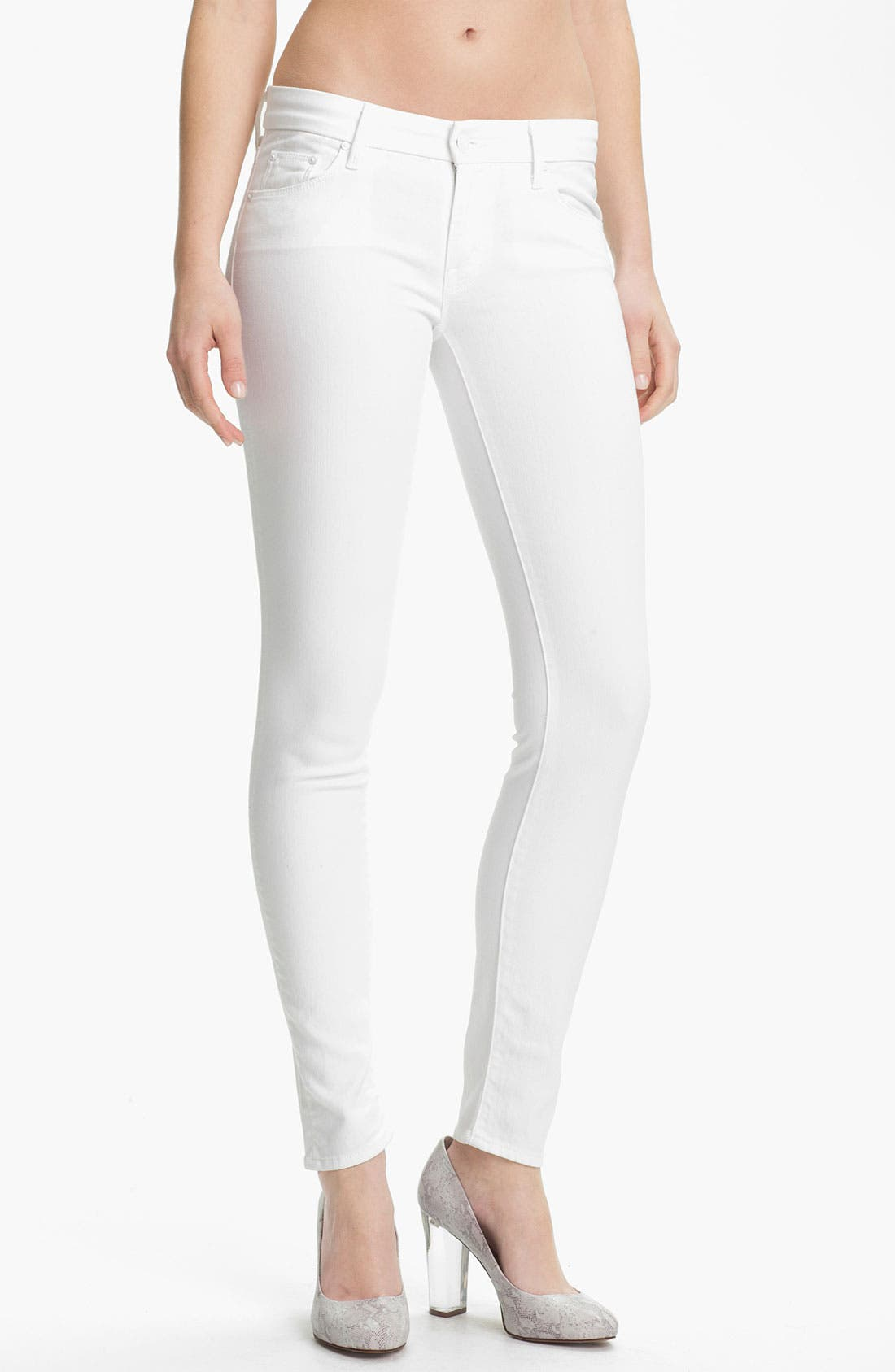 Alternate Image 1 Selected - MOTHER 'The Looker' Skinny Stretch Jeans (Mirror Mirror)