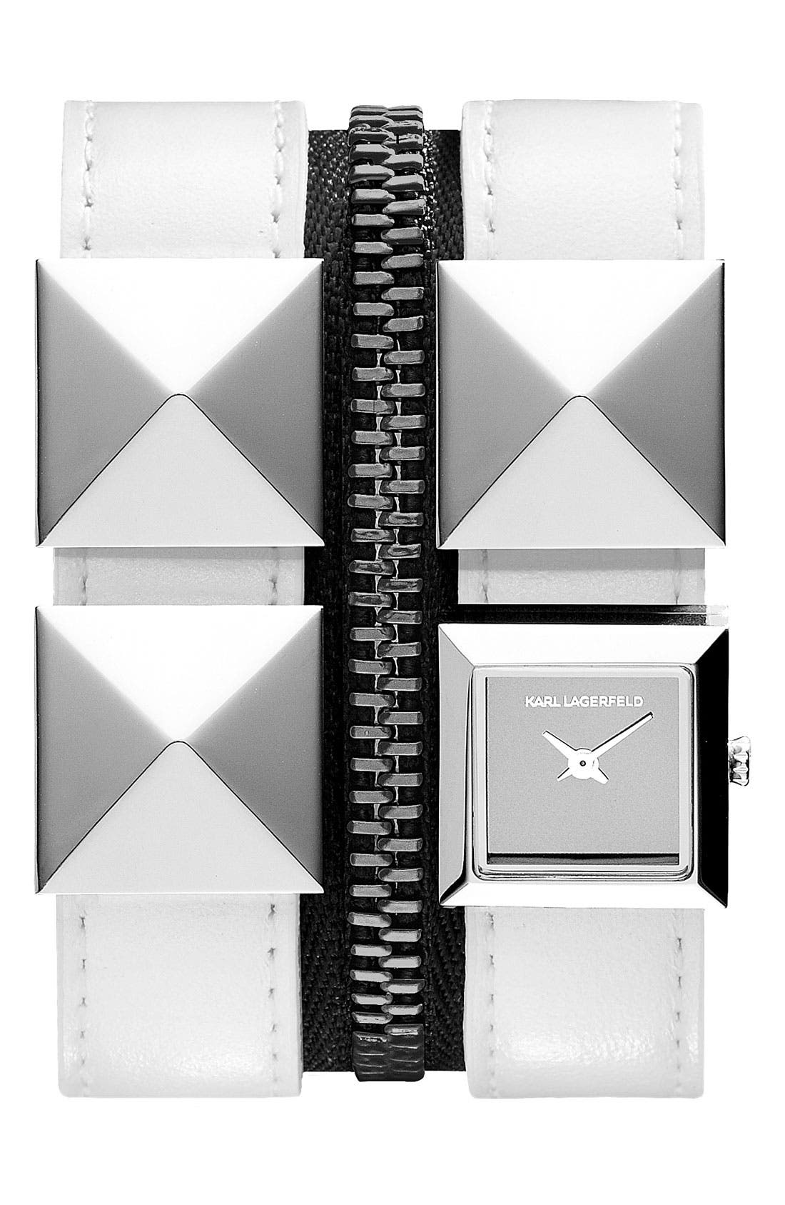 Main Image - KARL LAGERFELD Double Strap Cuff Watch, 17mm