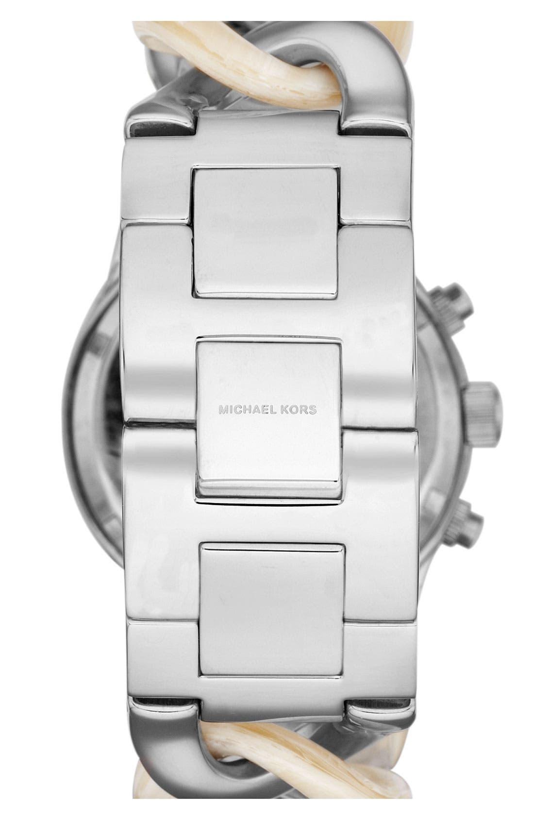 Alternate Image 2  - Michael Kors Chain Bracelet Chronograph Watch, 38mm