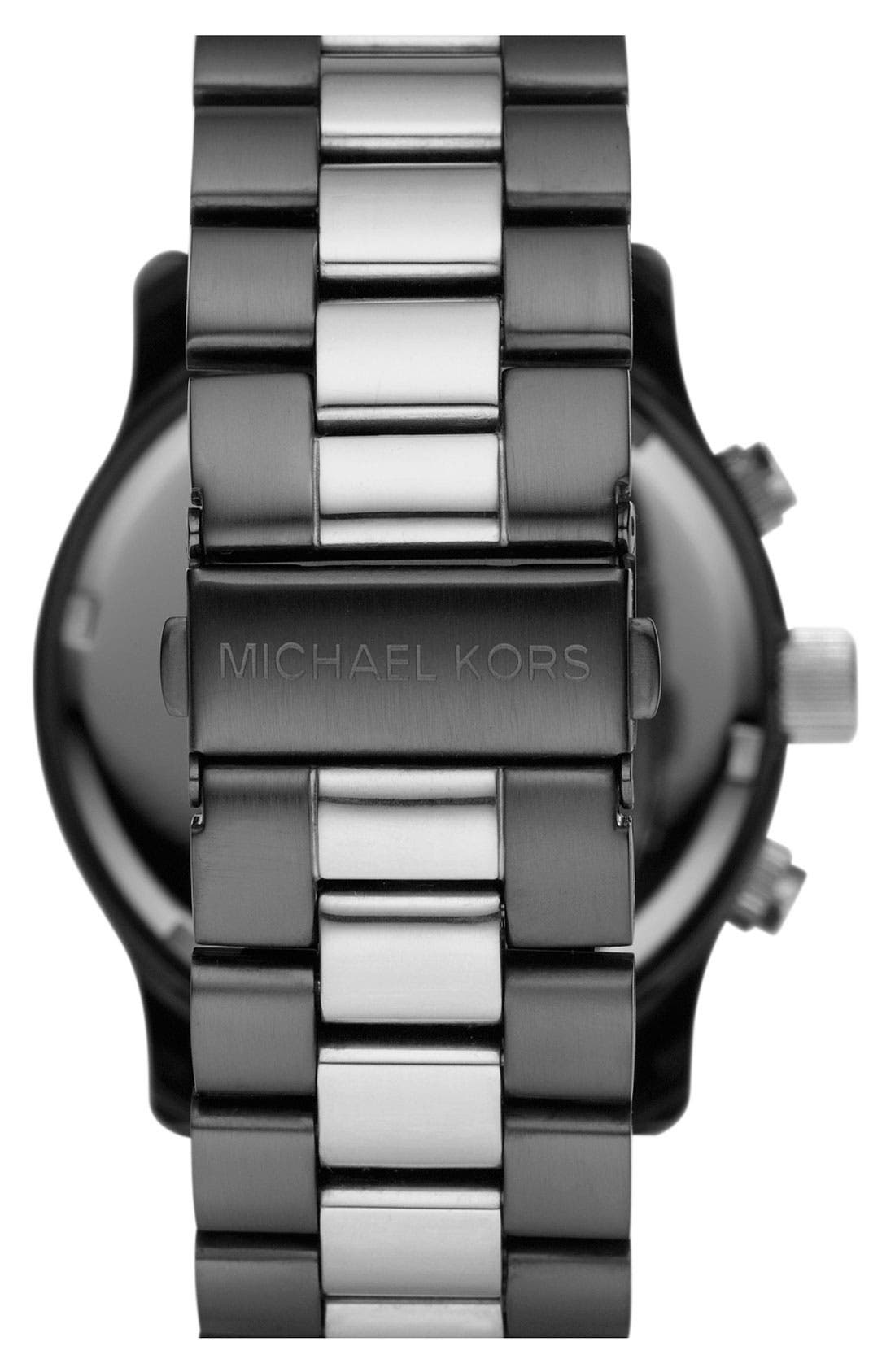Alternate Image 3  - Michael Kors 'Large Runway' Two Tone Chronograph Watch, 45mm