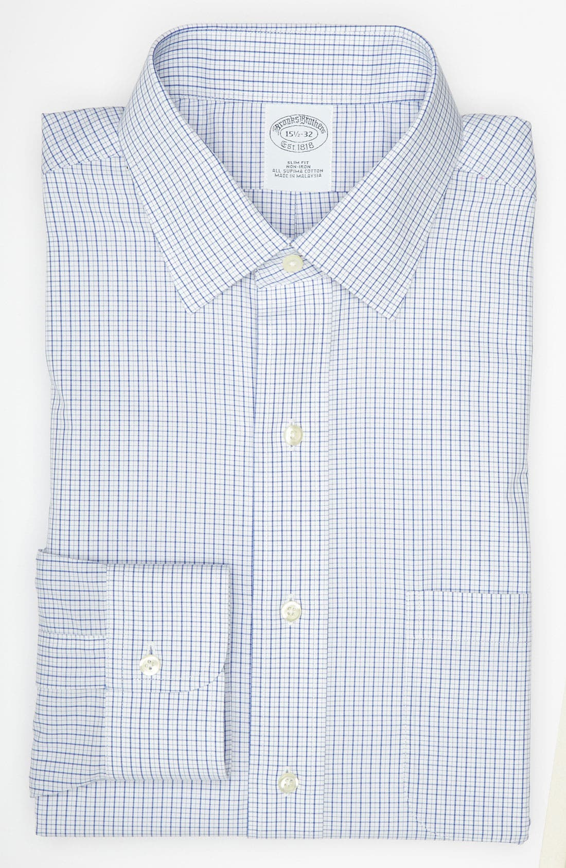 Alternate Image 1 Selected - Brooks Brothers Slim Fit Non-Iron Dress Shirt