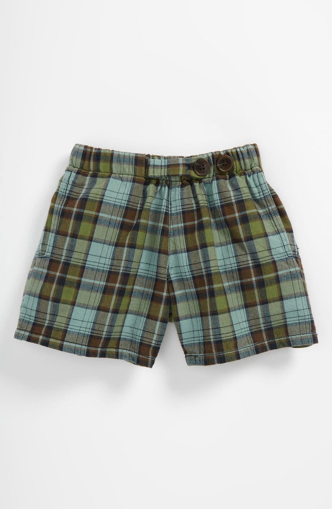Alternate Image 1 Selected - Peek 'Bangalore - Havasu Plaid' Shorts (Baby)