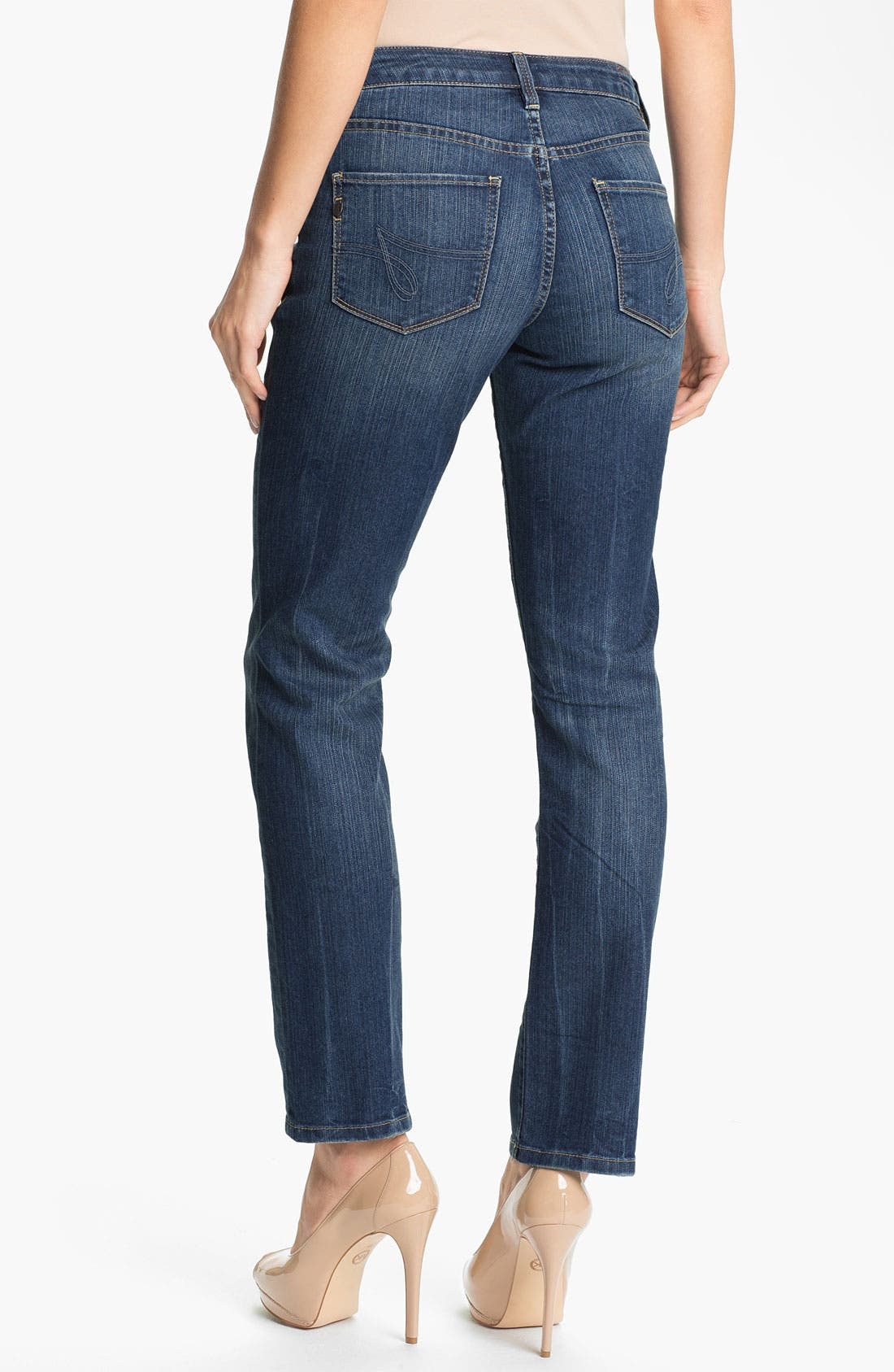 Alternate Image 2  - Jag Jeans 'Lucy' Bootcut Stretch Jeans (Blue Raven) (Petite)