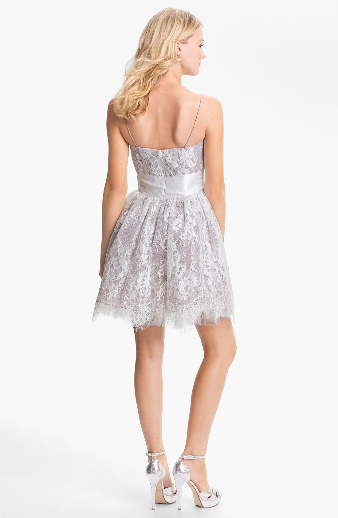 Alternate Image 2  - Jessica McClintock Sequin Lace Fit & Flare Dress
