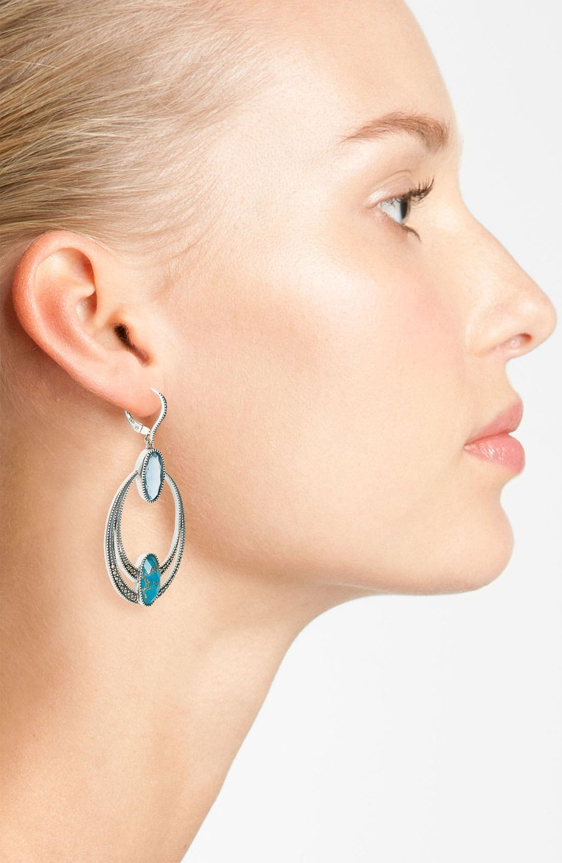 Alternate Image 2  - Judith Jack Frontal Hoop Earrings