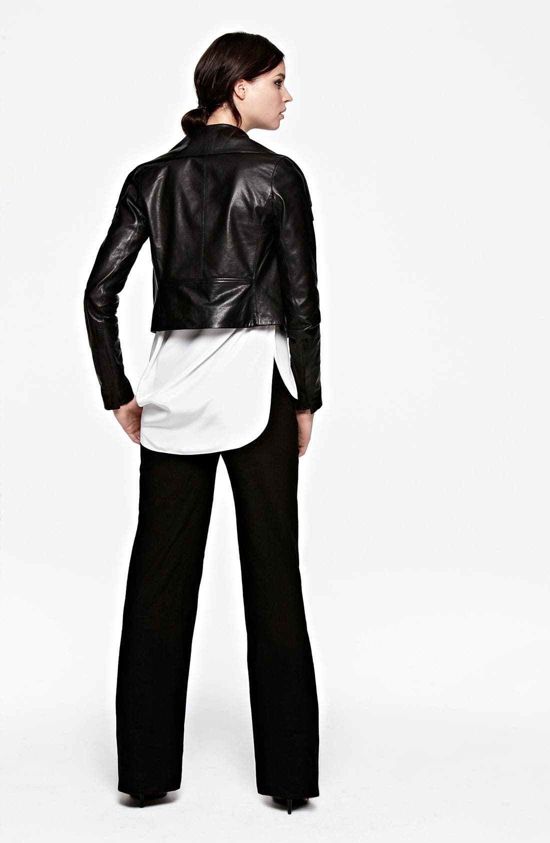 Alternate Image 6  - Vince Asymmetrical Leather Jacket